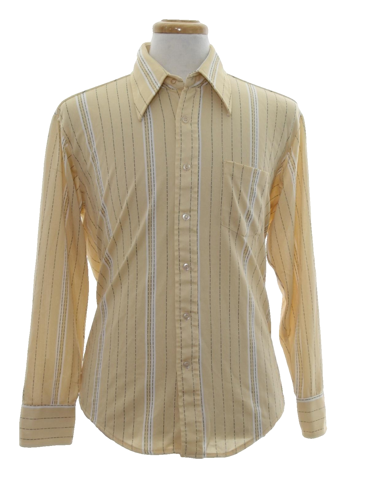 1970 39 s retro print disco shirt 70s kmart mens manila for Kmart button up shirts