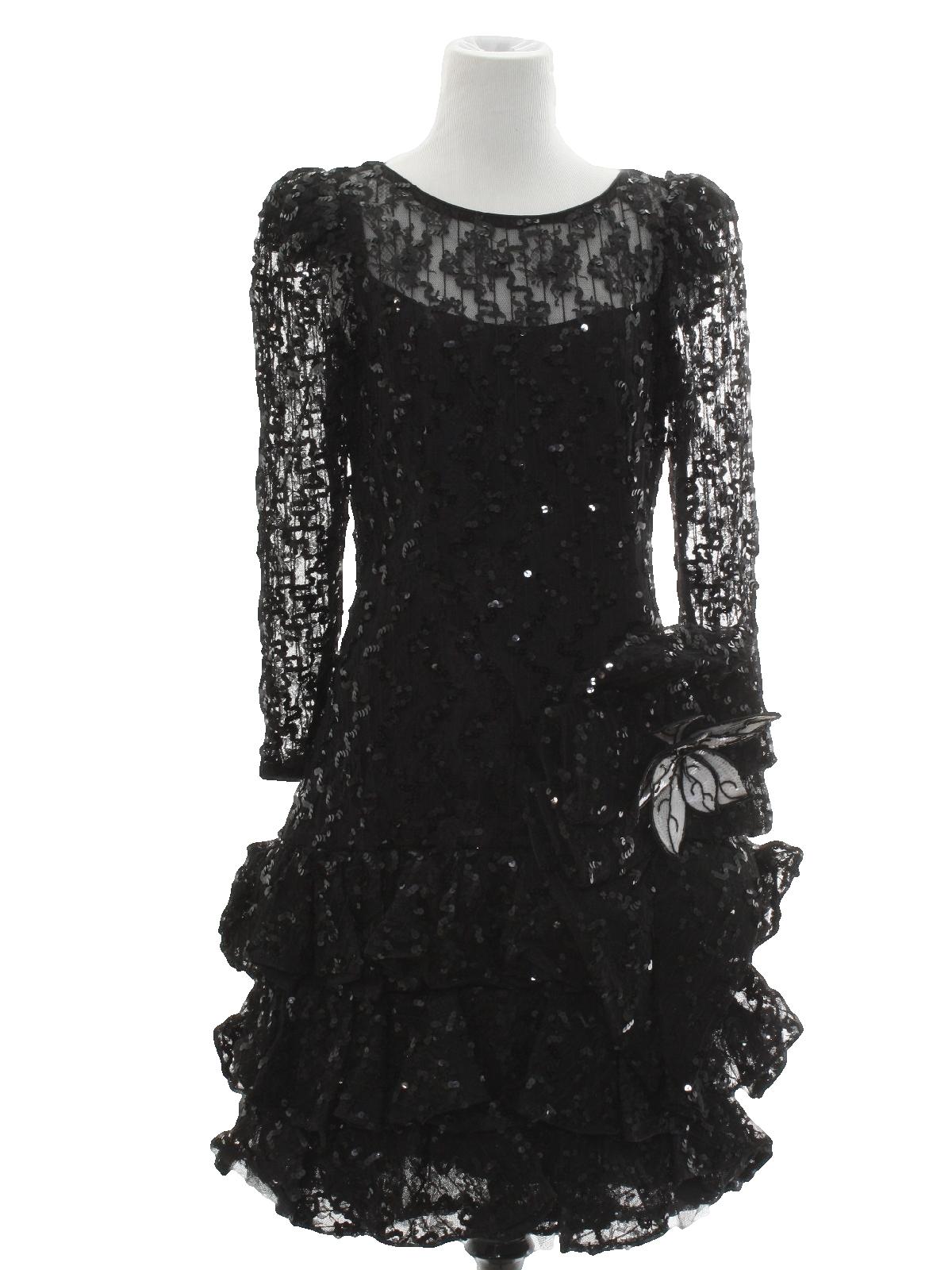 1d0e6dc7871 Retro 80 s Cocktail Dress  80s -Julie Duroche for After Five Saks ...