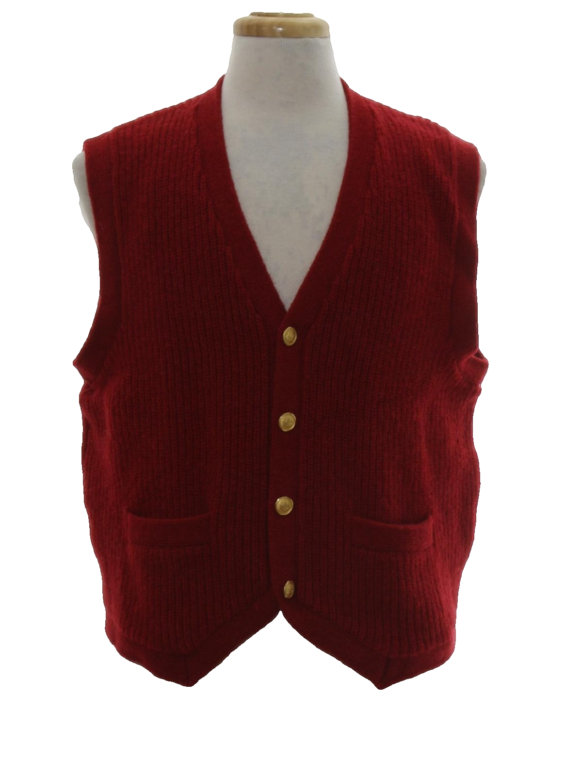 Retro 1980s Sweater: 80s -Orvis- Mens cranberry red shetland wool ...