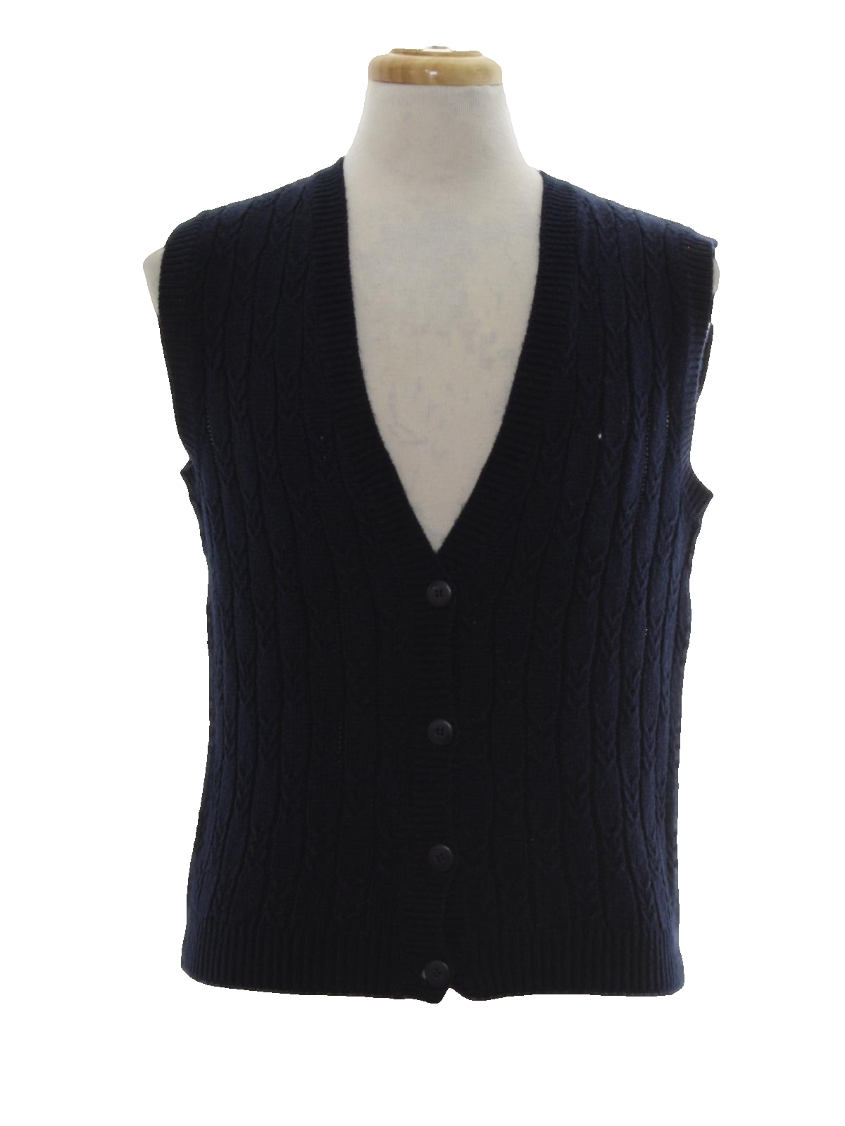 Leslie Fay Eighties Vintage Sweater: 80s -Leslie Fay- Womens navy ...
