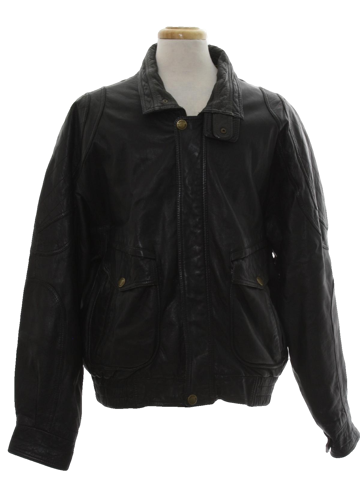 327a497ff 1980's Urban Equipment Mens Totally 80s Leather Jacket