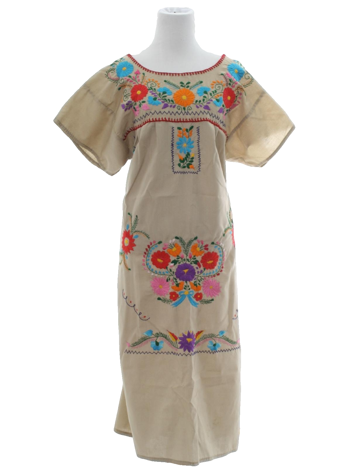 70s Embroidered Dress