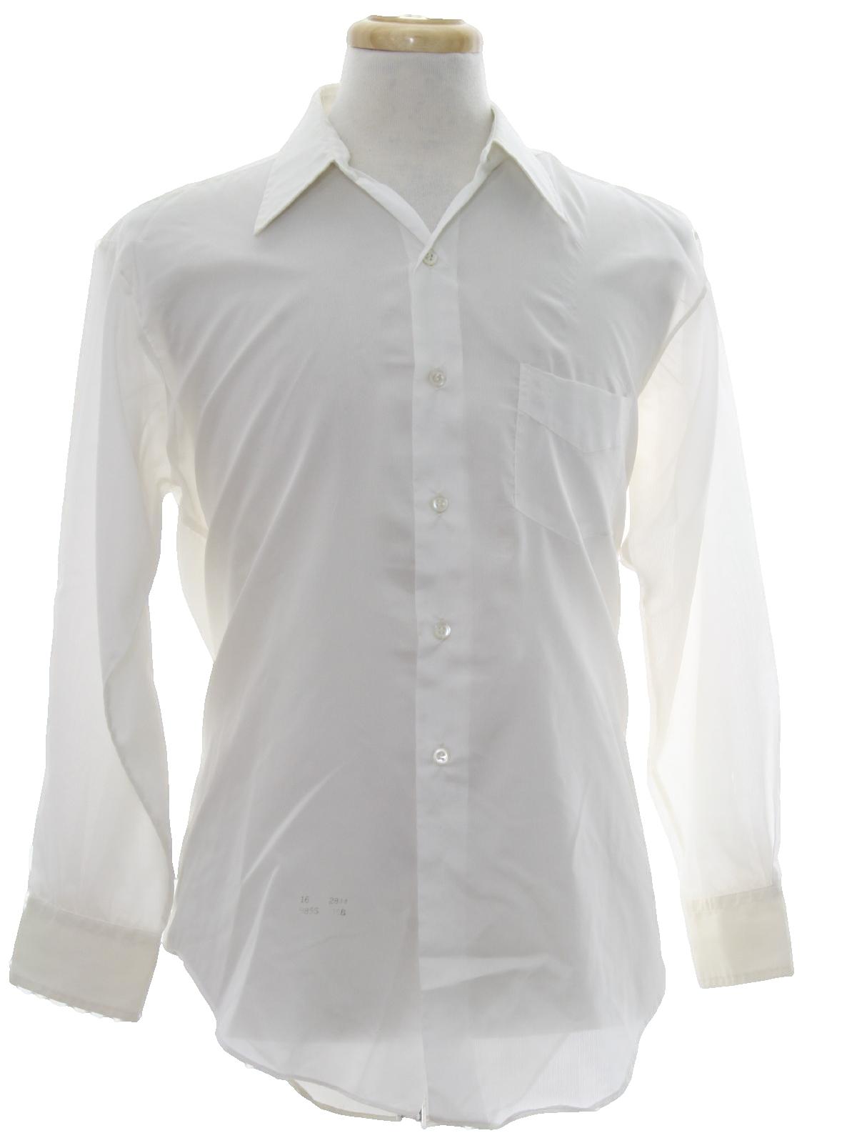 313e4149c Sherbrooke Seventies Vintage Shirt: 70s -Sherbrooke- Mens white ...