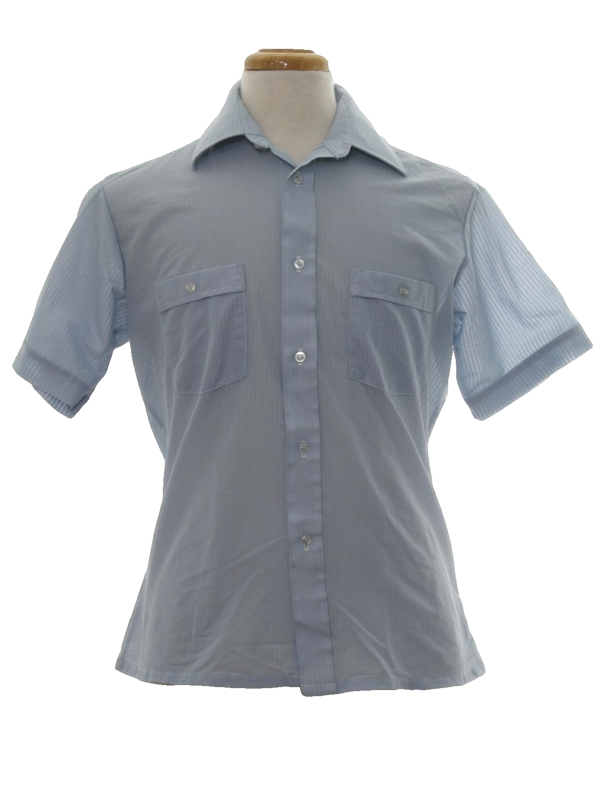 Retro 1970s shirt 70s jc penney mens light blue for Button up collared sport shirts