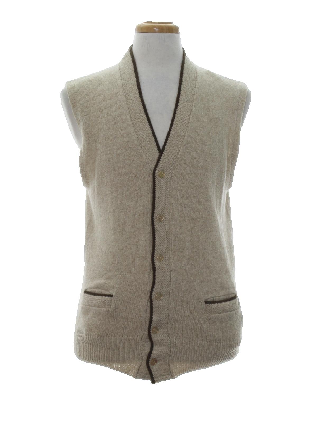 Retro 60's Sweater: 60s -Sears Mens Sportswear- Mens heather beige ...
