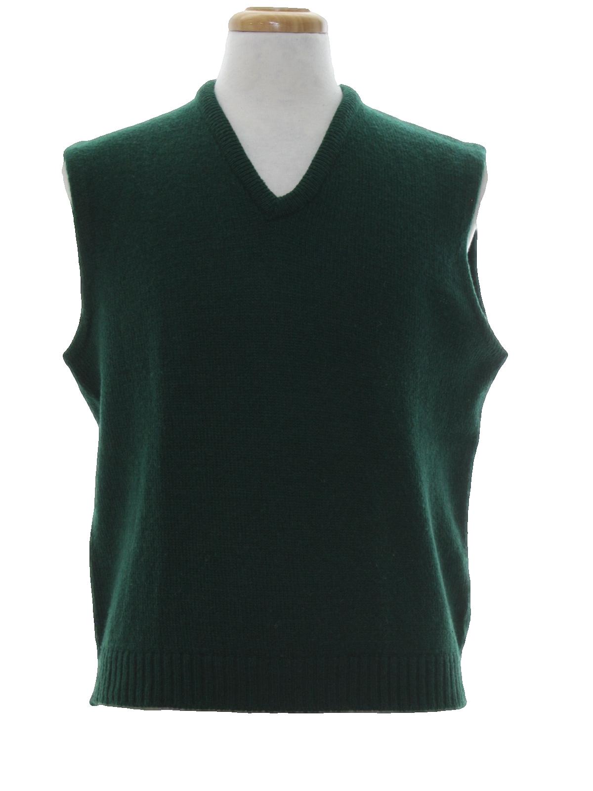 1970's Retro Sweater: 70s -Jantzen Scotch Tumbler- Mens dark green ...