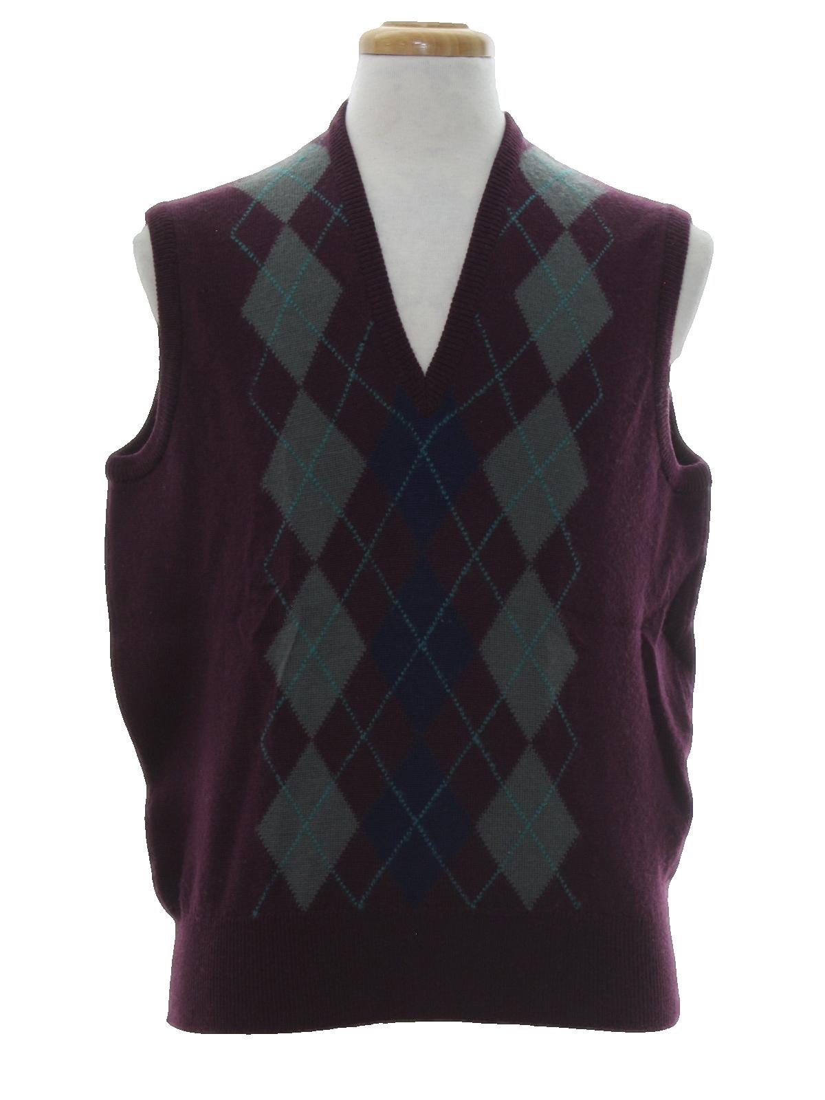 Retro 80s Sweater (Neiman Marcus) : 80s -Neiman Marcus- Mens dark ...