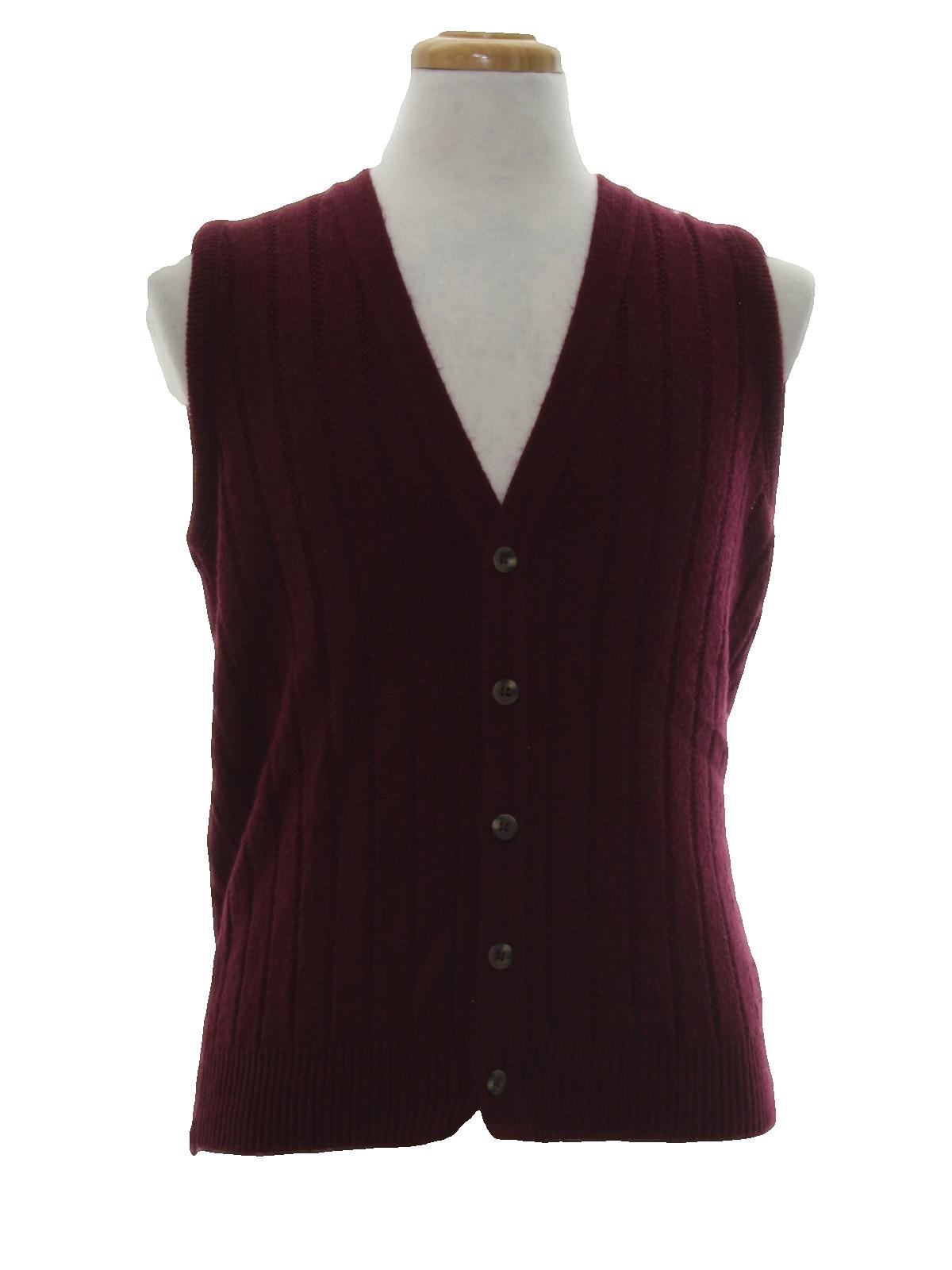 80s Retro Sweater: 80s -Ingrams Mens Shop- Mens burgundy stripe ...