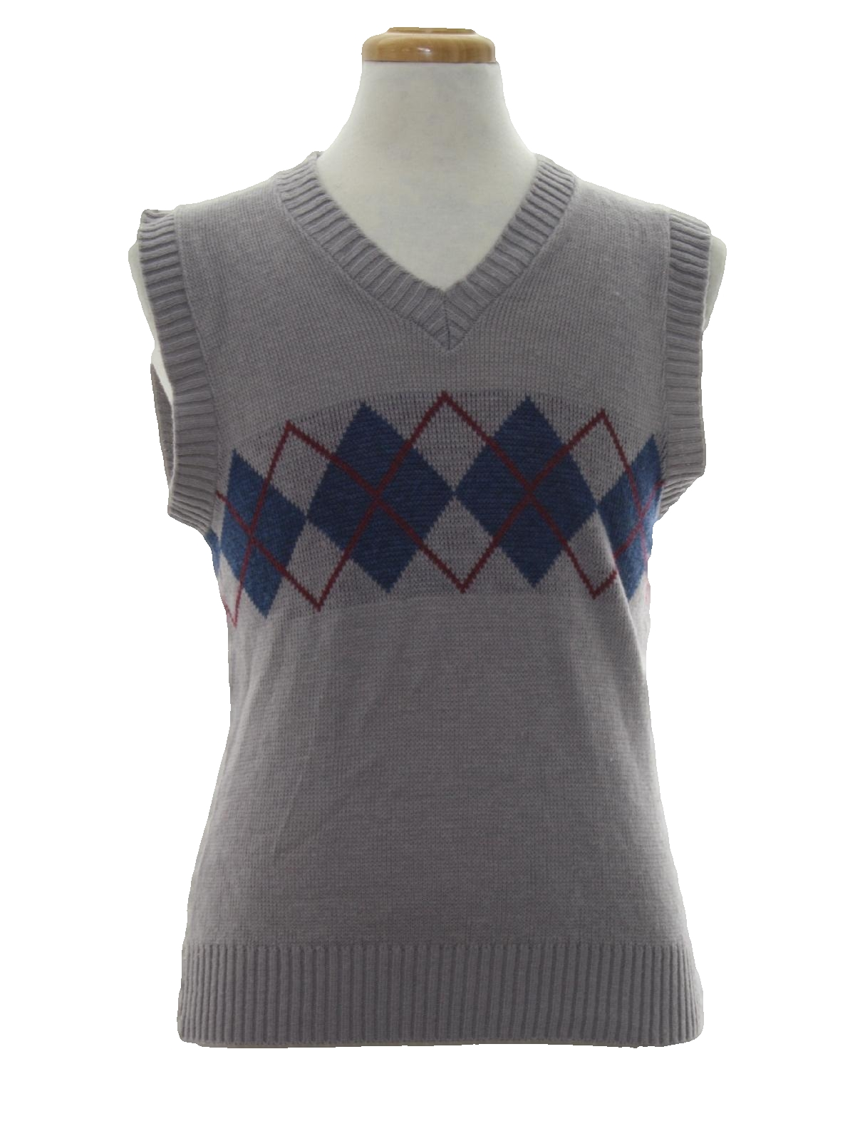 1990's Retro Sweater: 90s -Michael Low- Mens light grey with ...
