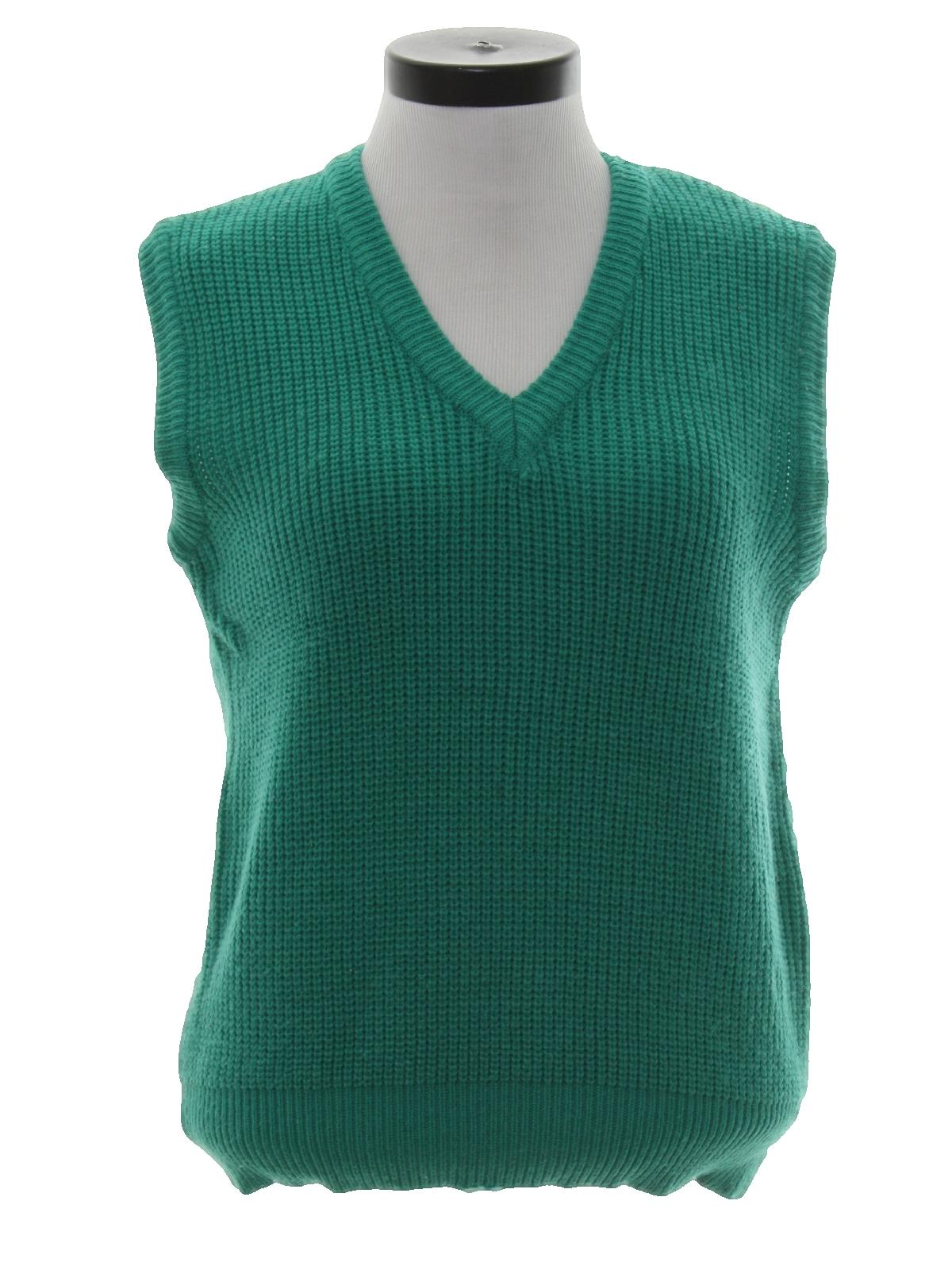 Vintage 80s Sweater: 80s -Nob Hill- Womens dark sea foam green ...