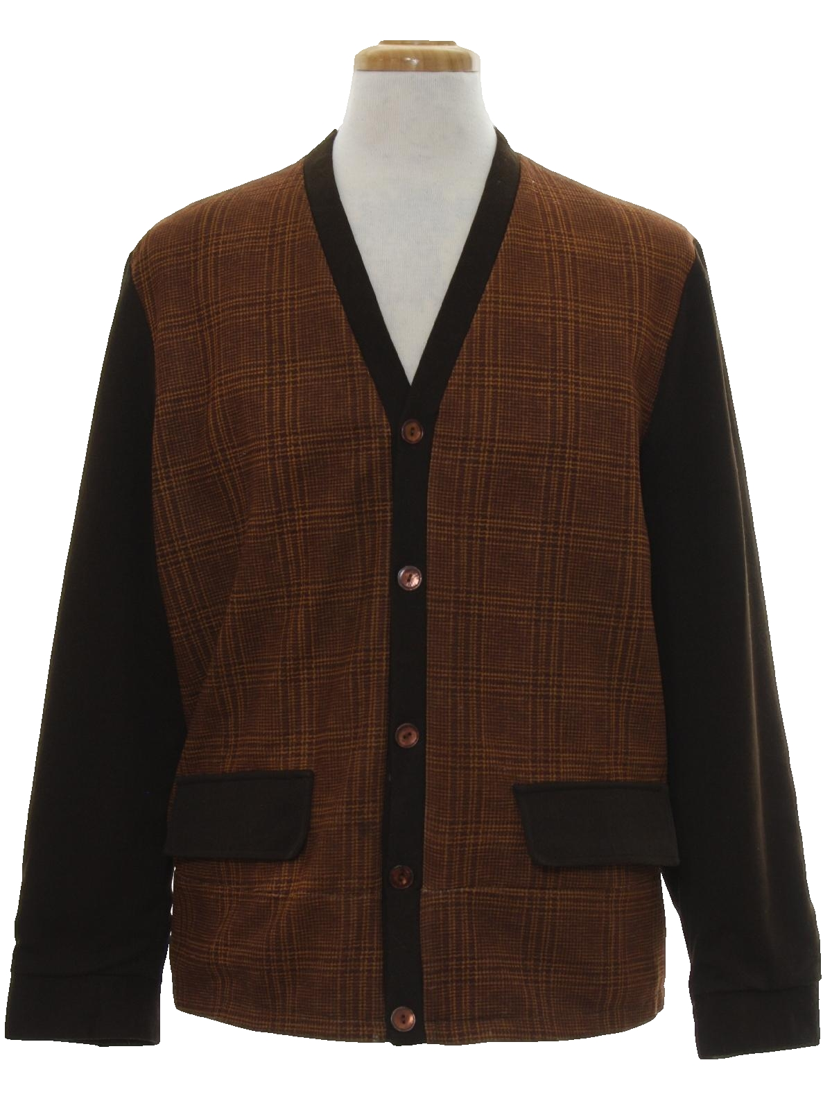 60s Retro Jacket: 60s -Unreadable Label- Mens shades of brown ...