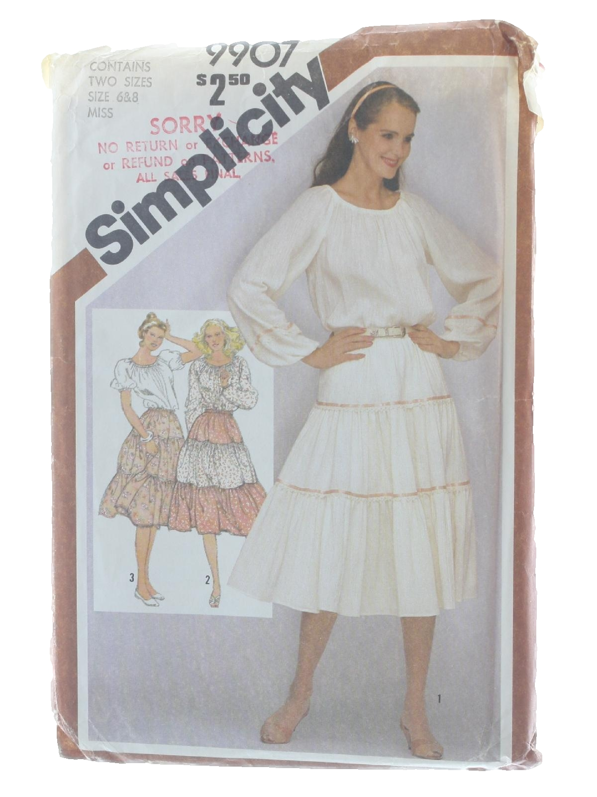 Retro 1980s Sewing Pattern 80s Simplicity Pattern No