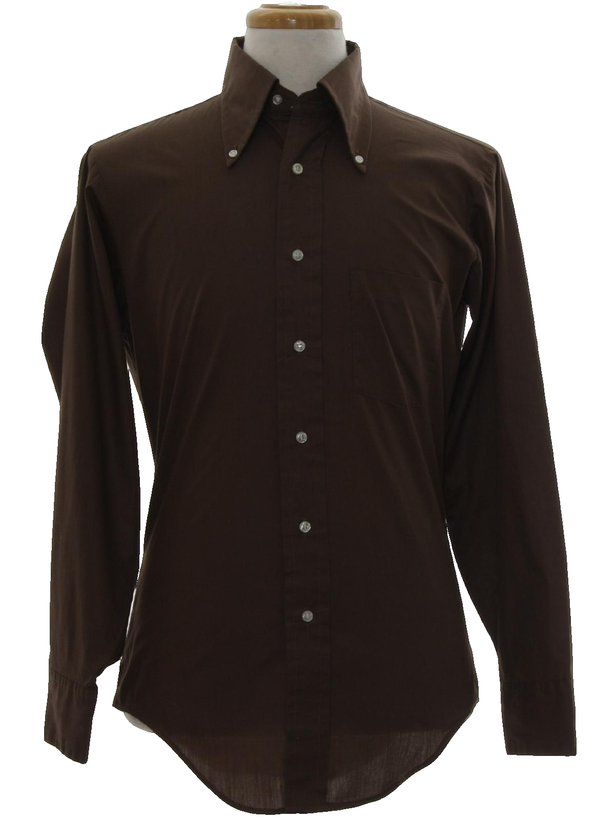 1970 39 s shirt mach ii arrow 70s mach ii arrow mens for Mens chocolate brown shirt