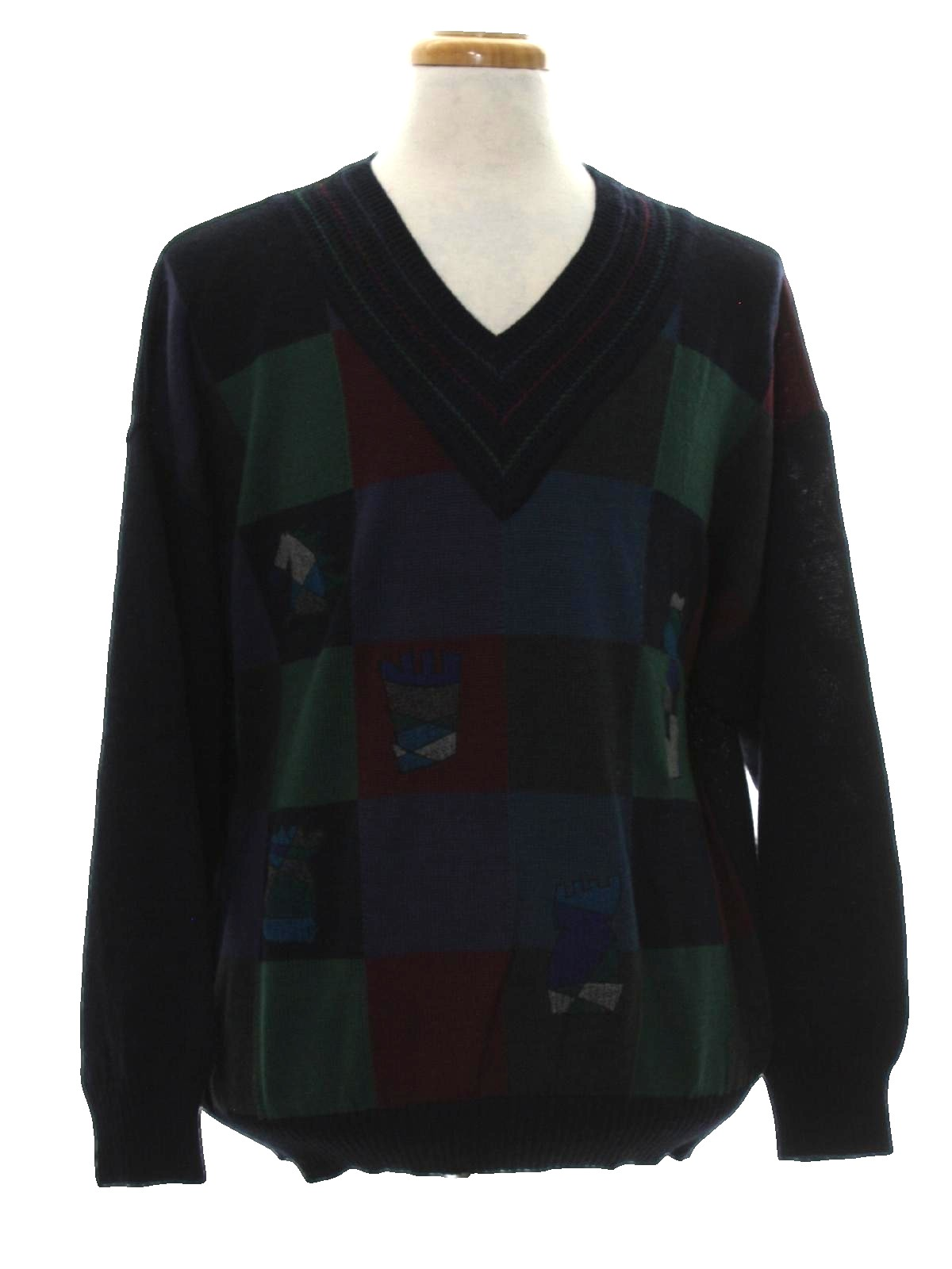 Baffo 90 39 s vintage sweater 90s baffo mens midnight blue for Dark sage green color