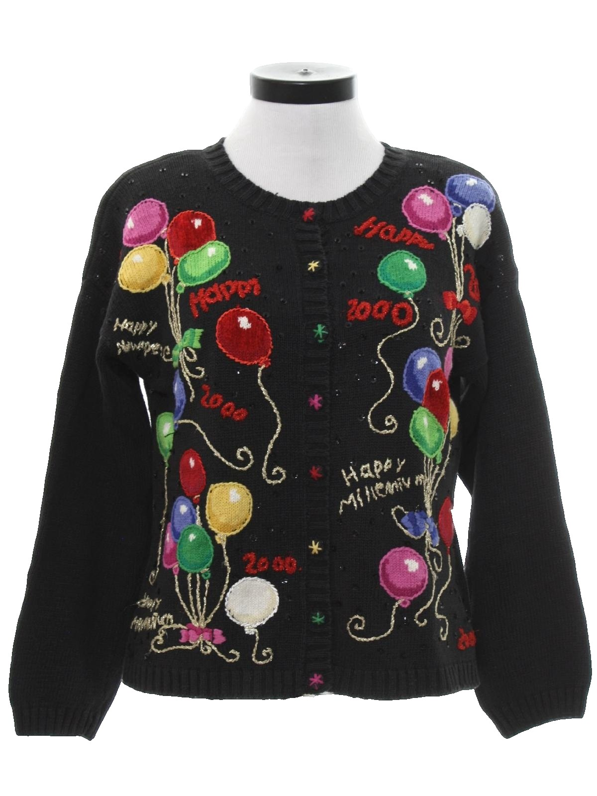 90s Womens Ugly After Christmas Y2K Vintage New Years Eve