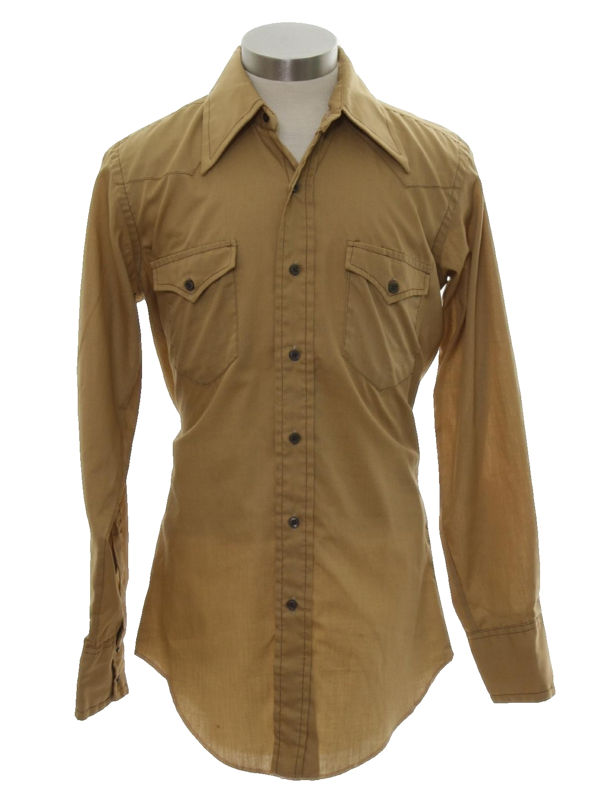 Wrangler 1970s vintage western shirt 70s wrangler mens for Mens shirts with cufflink holes