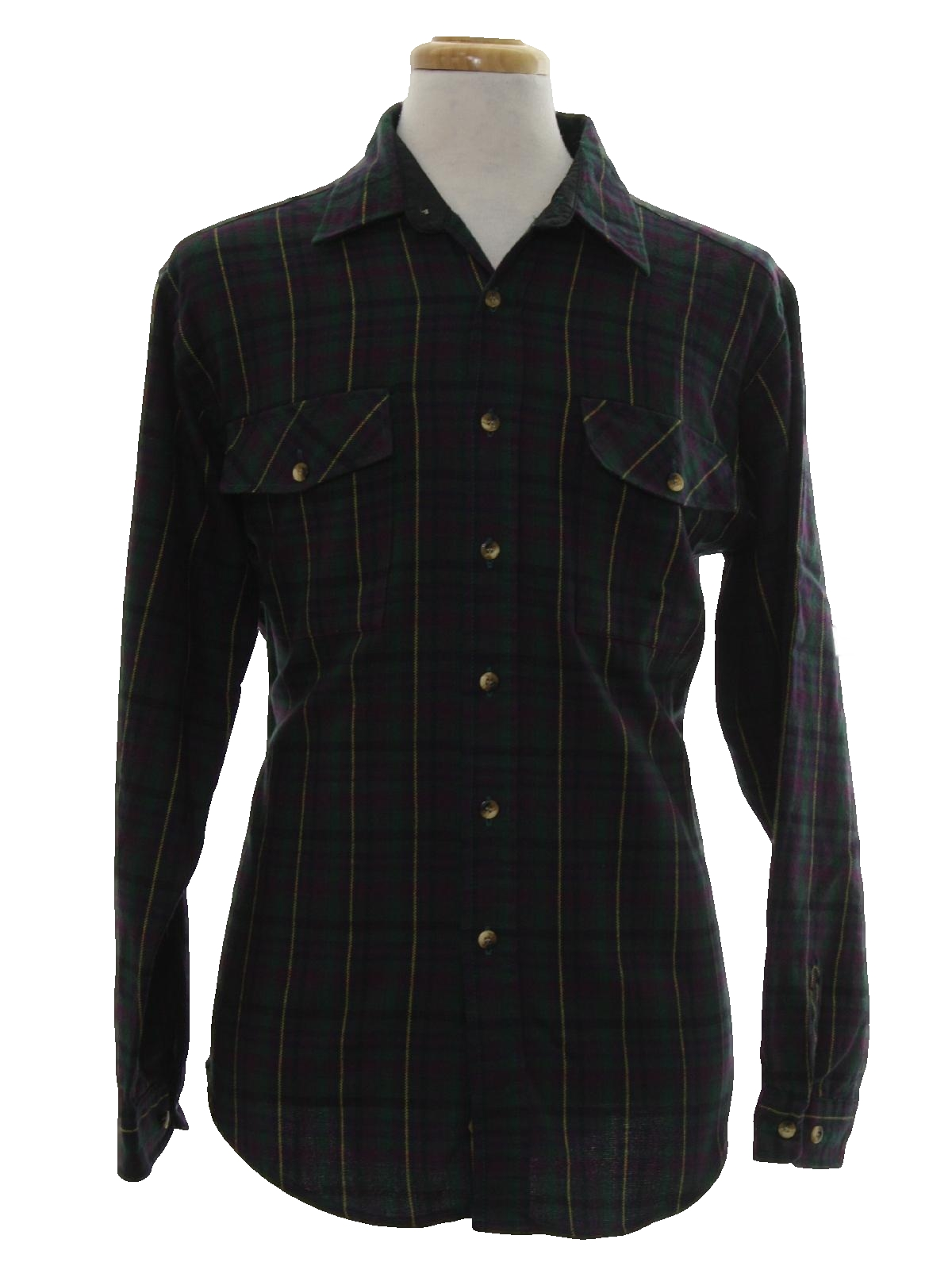 Retro nineties shirt 90s sutter and grant mens forest for Mens shirts with cufflink holes