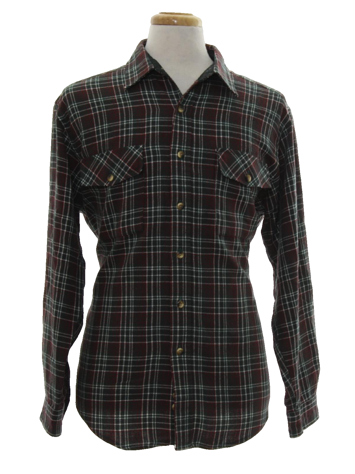 Retro 1990 39 s shirt sutter and grant 90s sutter and for Cotton polyester flannel shirts