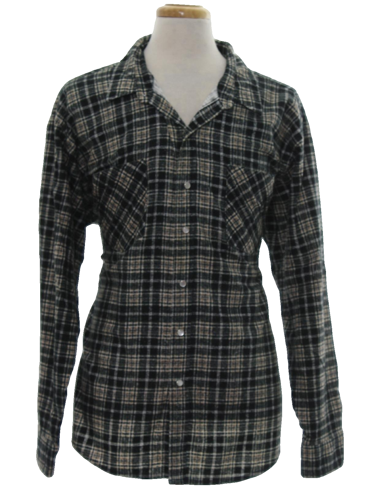 Vintage 1980 39 s shirt 80s haband mens black background for Polyester lined flannel shirts