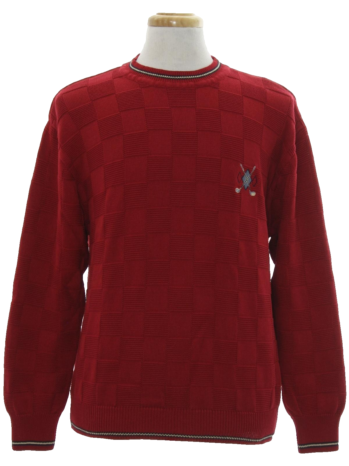 Nineties Vintage Sweater 90s Fairway Outfitters Mens Berry Red