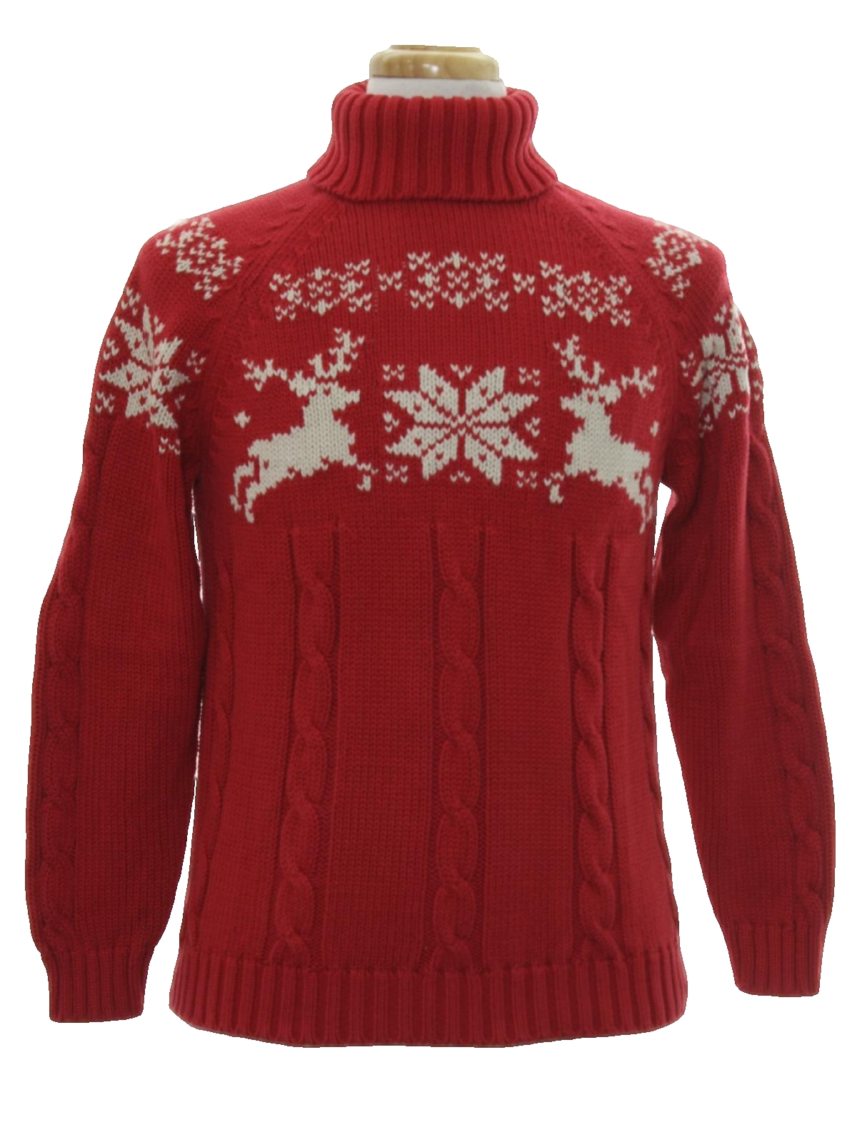 Eighties Vintage Sweater: 80s vintage -Lands End- Womens red with ...