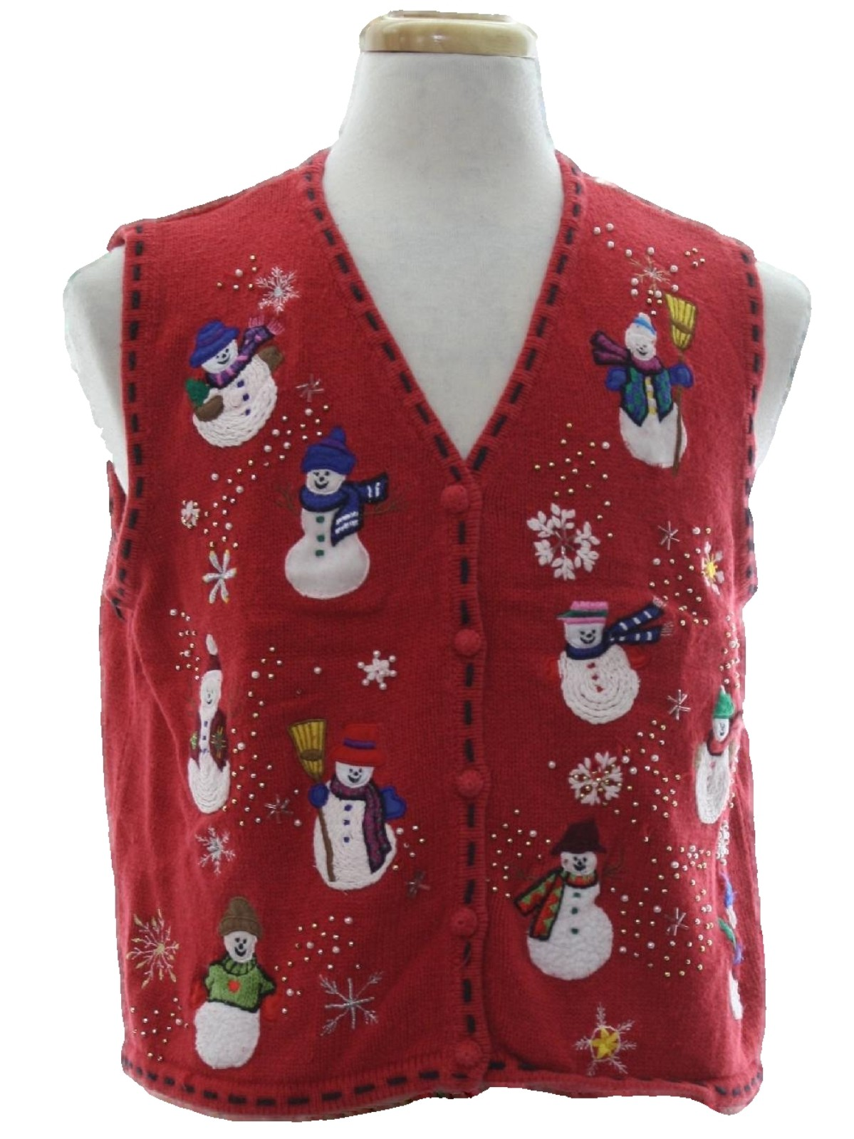 Womens ugly christmas sweater vest designer originals for Over the top ugly christmas sweaters