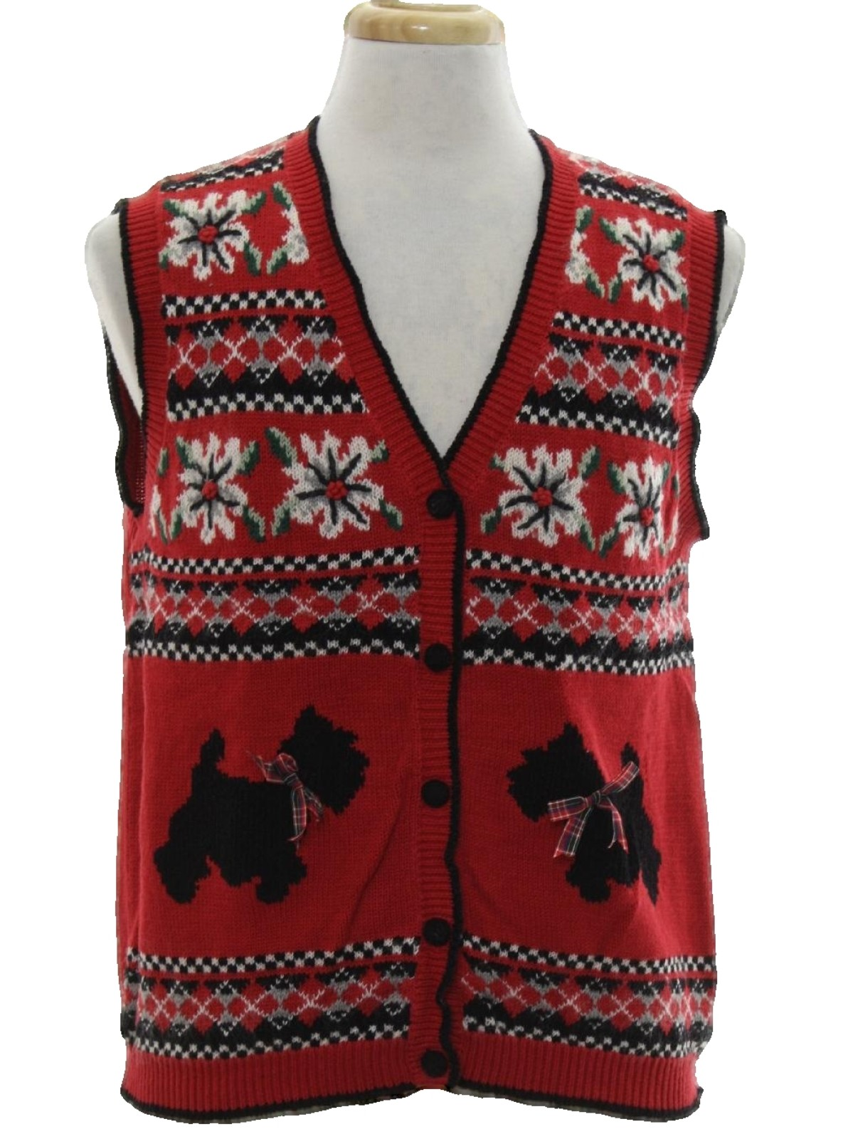 Ugly Dog Christmas Sweaters.Alfred Dunner Unisex Dog Gonnit Ugly Christmas Sweater Vest