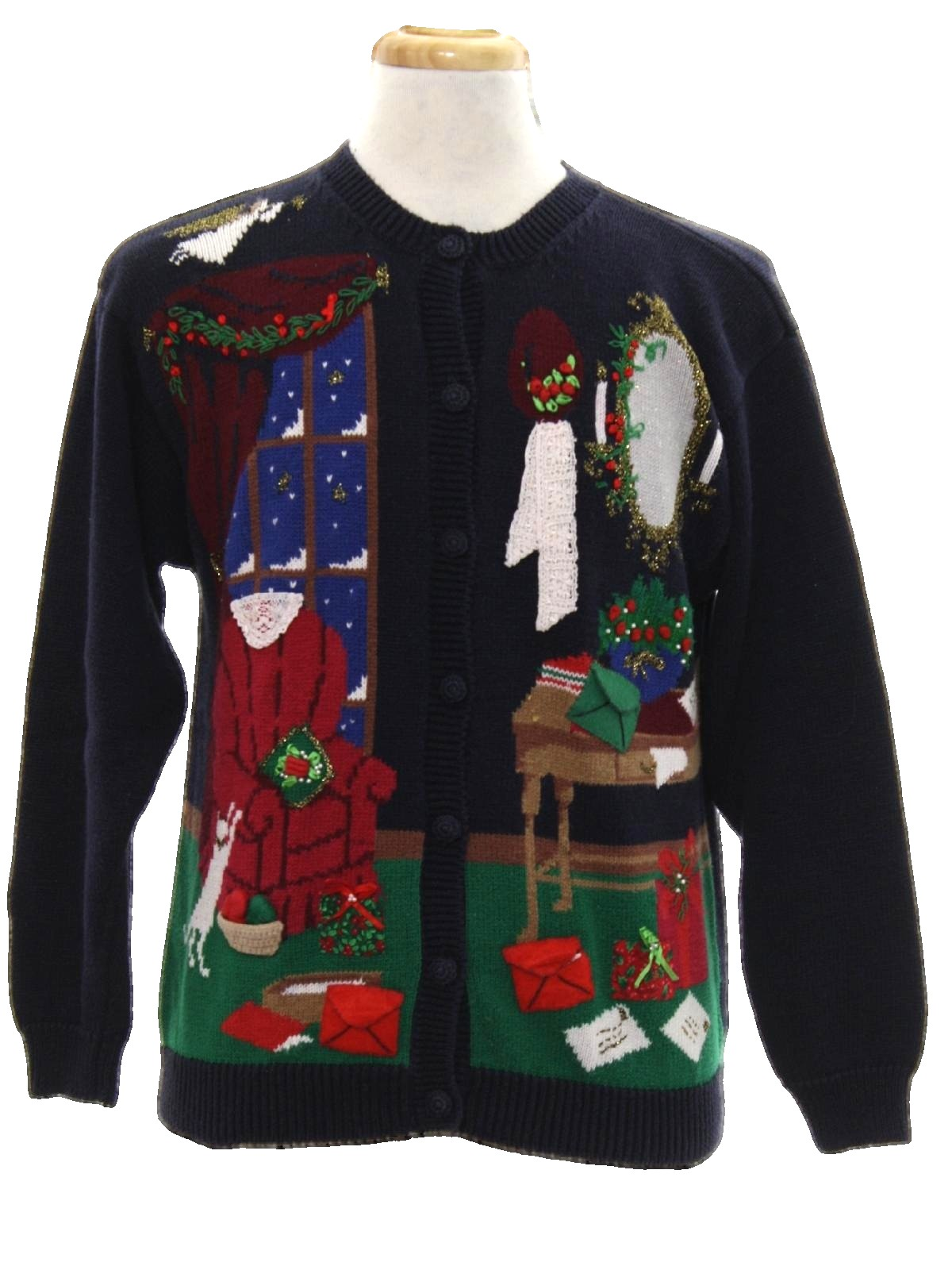 1990 S Vintage Ugly Christmas Sweater 90s Authentic