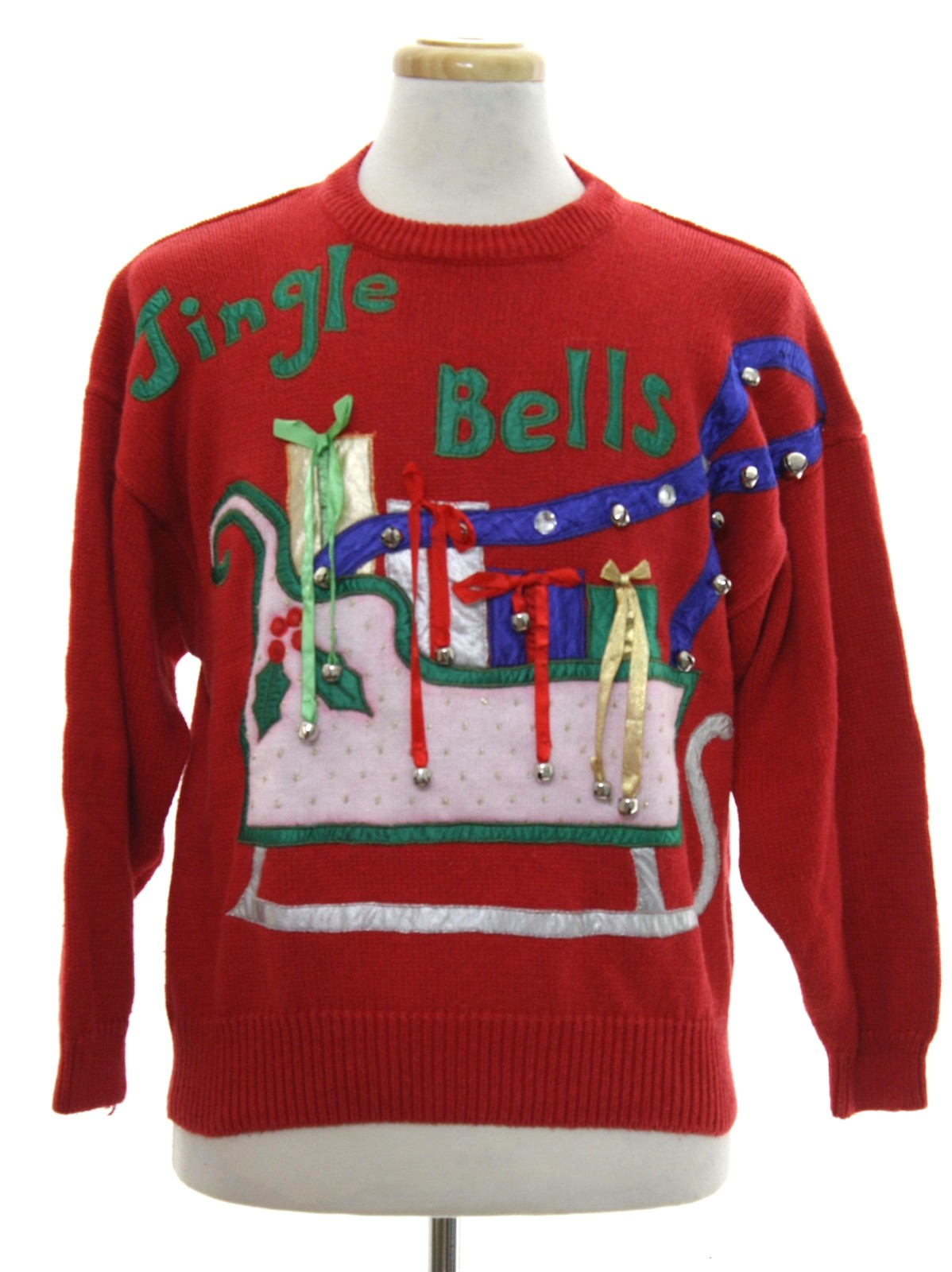 1980\u0027s Bonnie and Bill Unisex Vintage Ugly Christmas Sweater