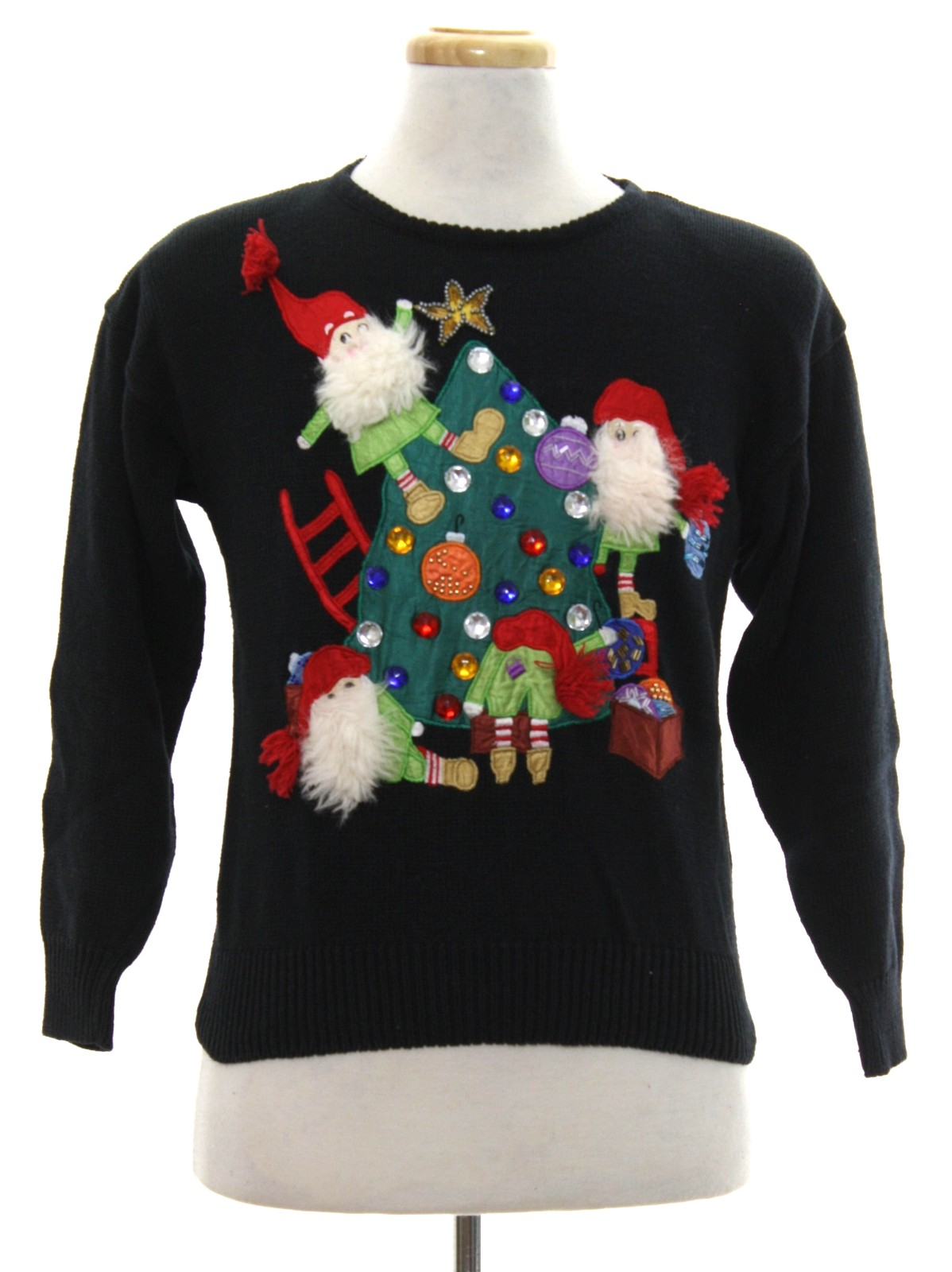 90s Christmas Sweaters.1990 S Work In Progress Womens Vintage Ugly Christmas Sweater