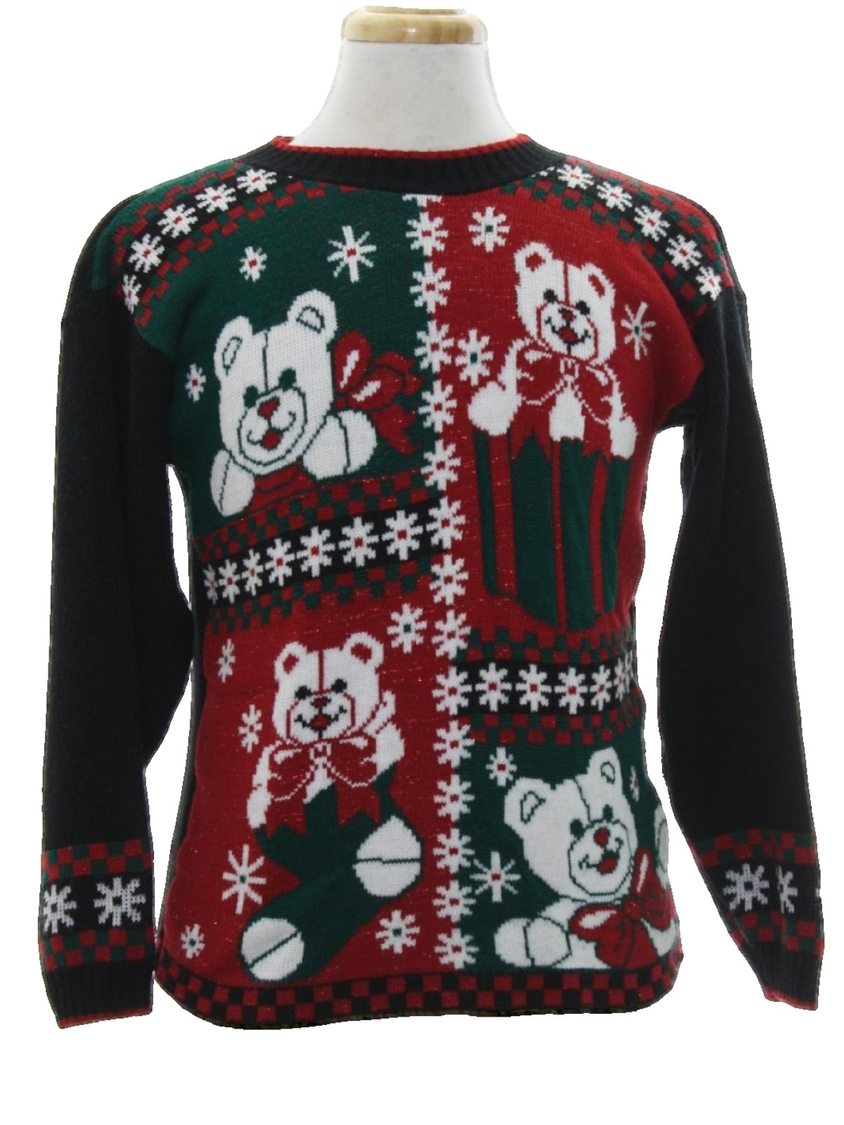 80s Vintage Vintage Bear Riffic Ugly Christmas Sweater 80s