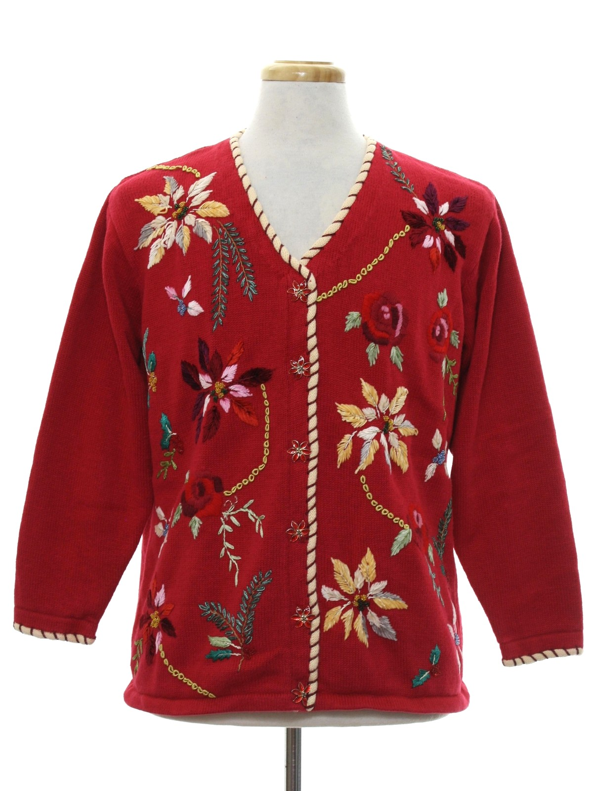 Ugly christmas cardigan sweater story brook knits for Over the top ugly christmas sweaters