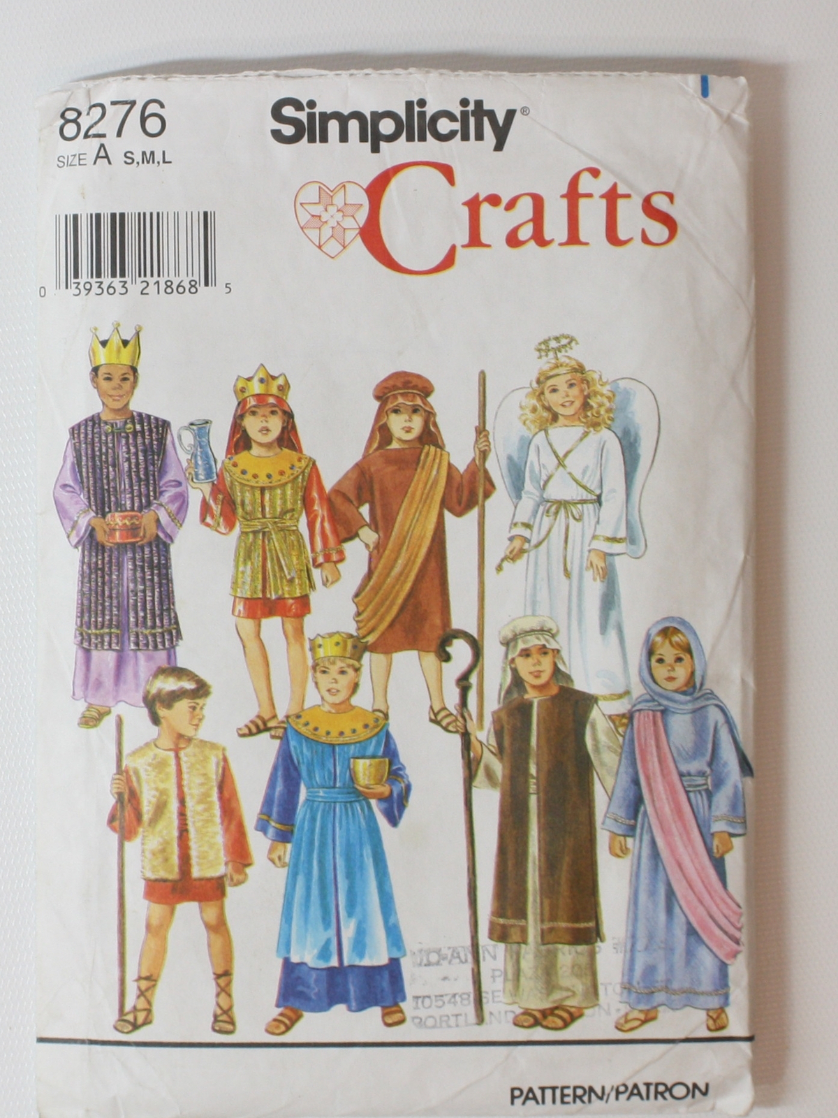 Vintage 90s sewing pattern early 90s simplicity pattern no 8276 vintage 90s sewing pattern early 90s simplicity pattern no 8276 unisexchilds nativity costumes this includes joseph mary three kings two shepards jeuxipadfo Images