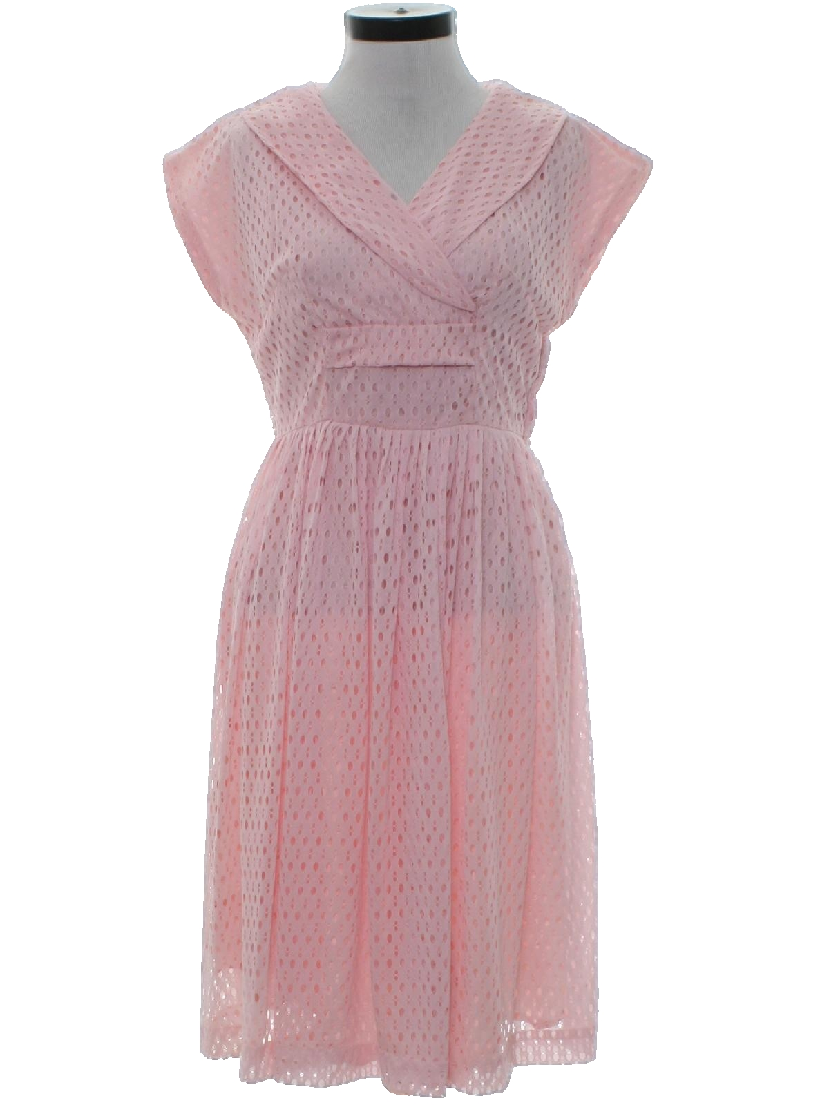 Vintage Fifties Cocktail Dress: 50s -no label- Womens soft pink ...