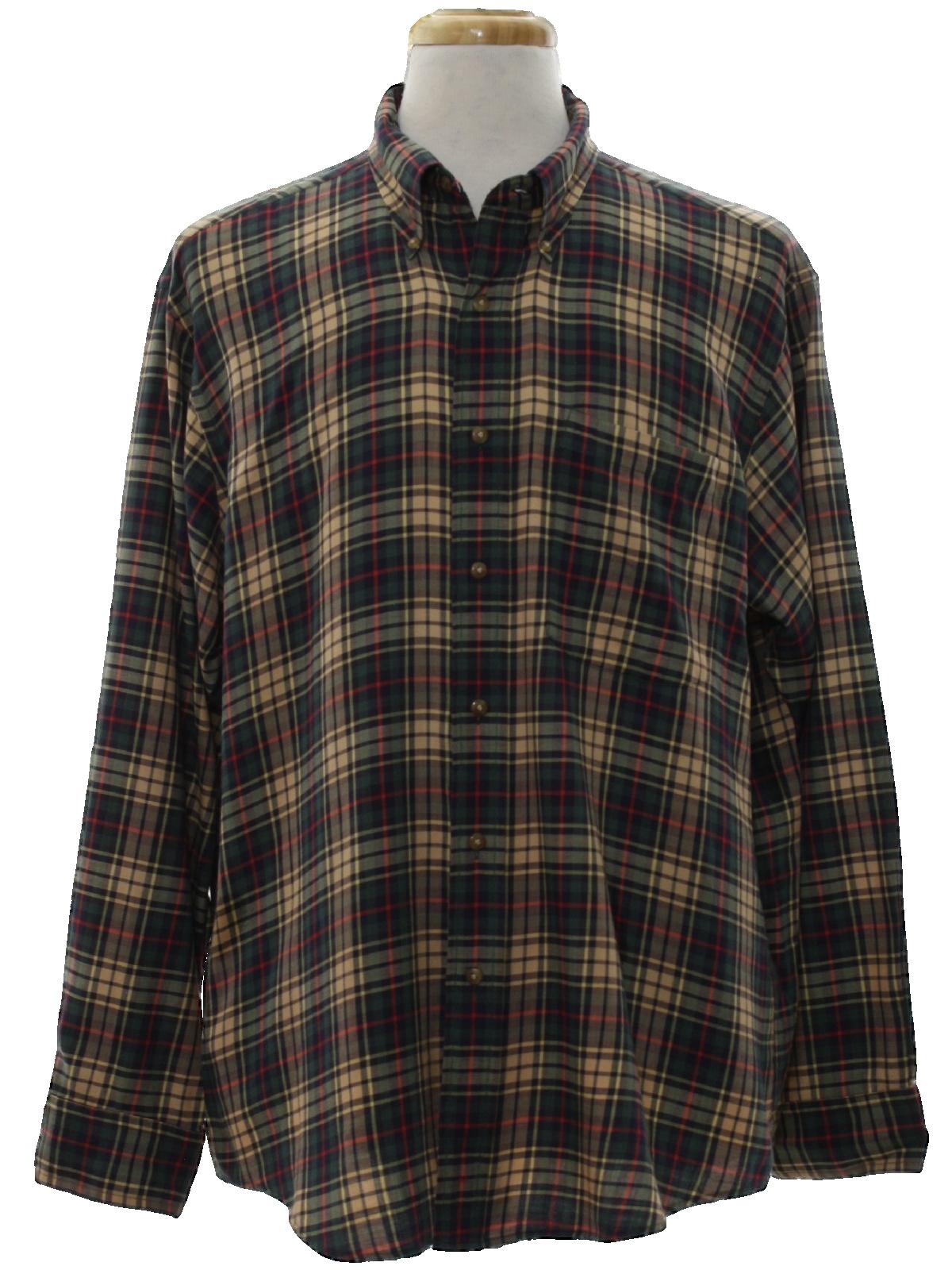 0af764d4af2 60 s Vintage Shirt  Late 60s -Lochlana by Hathaway- Mens tan background