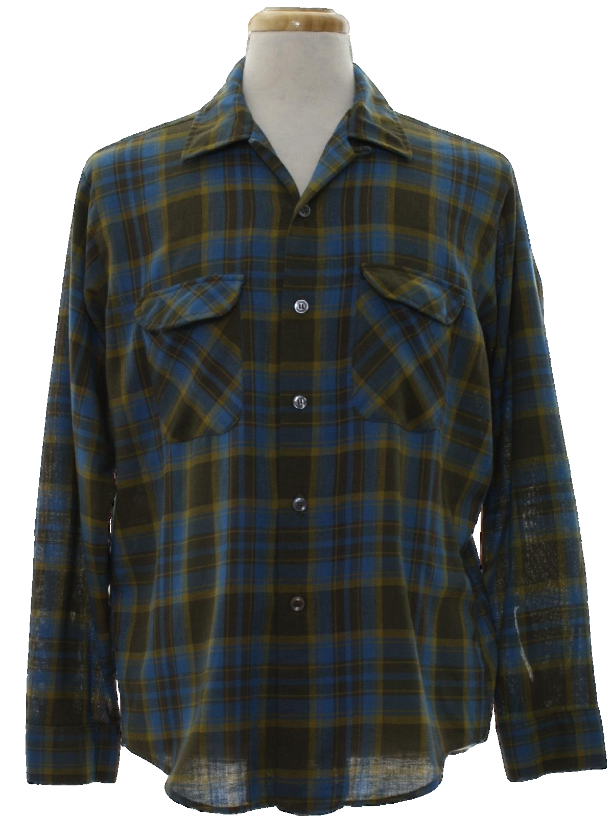 Vintage 1950 39 S Shirt Late 50s E And W Mens Teal
