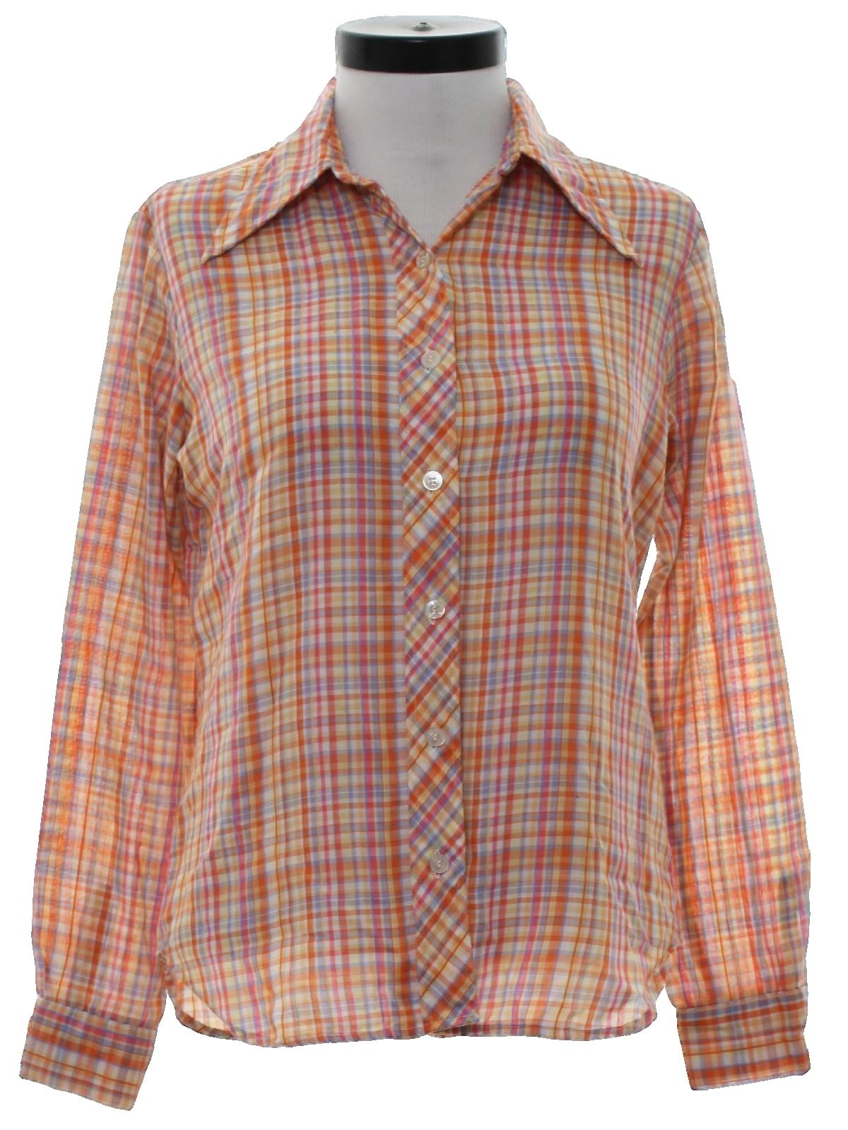 70s Retro Shirt 70s Maverick Womens Orange Yellow