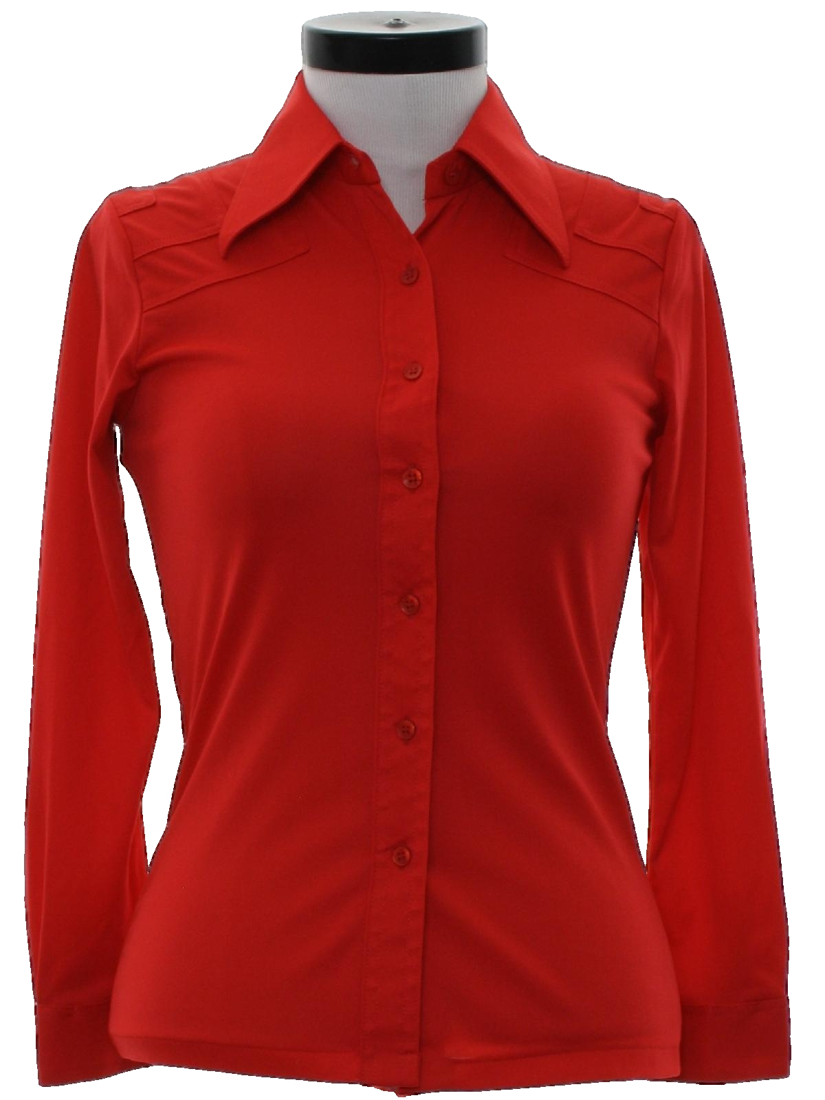 1970 39 s disco shirt kmart 70s kmart womens red for Kmart button up shirts