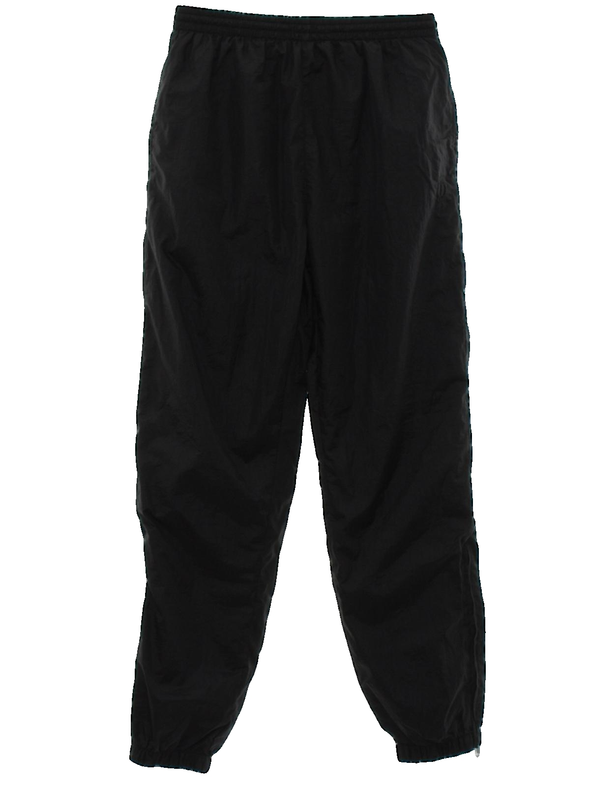 Retro 80 S Pants 80s Wilson Mens Black Nylon Shell