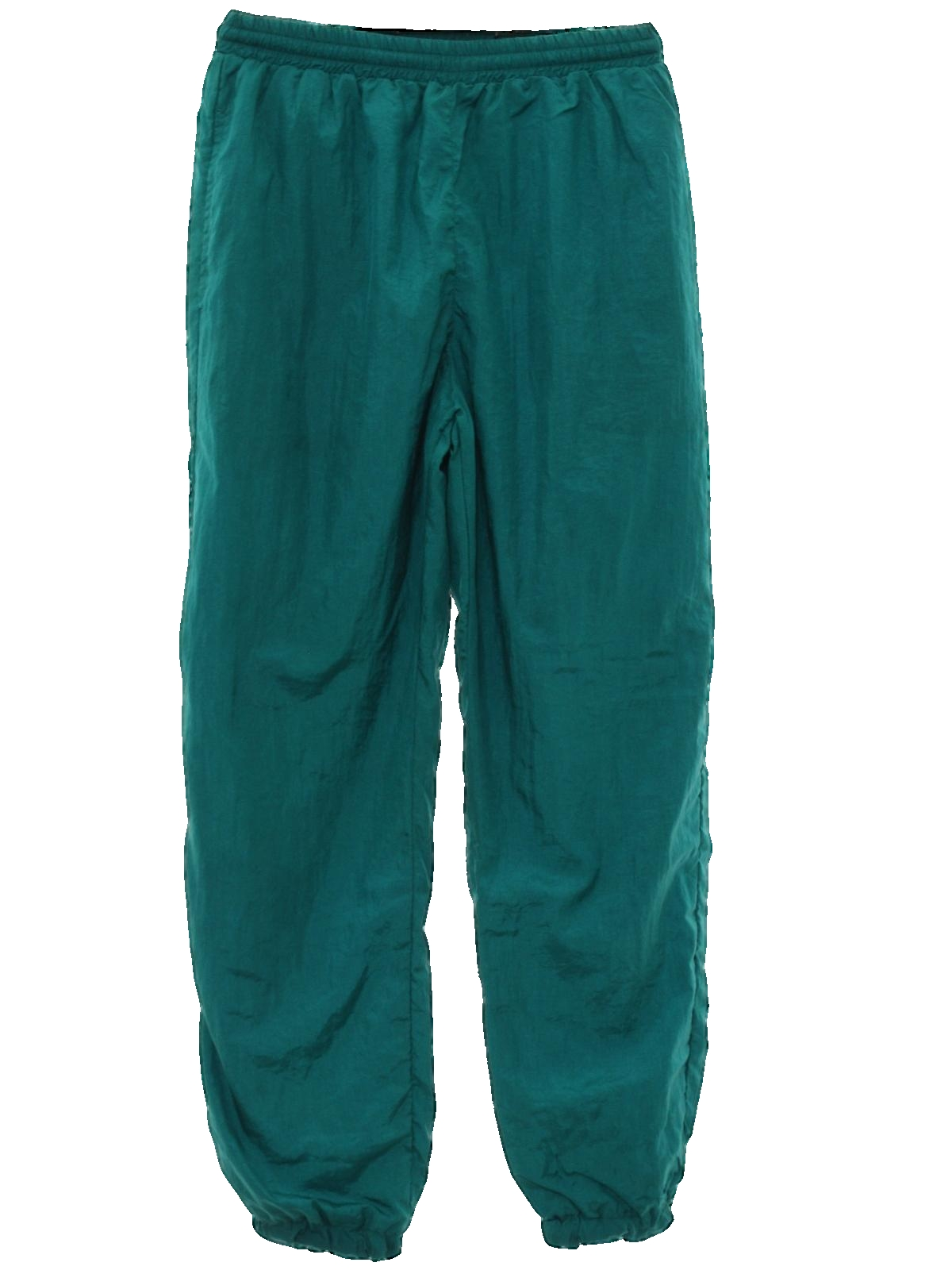 80s Retro Pants: 80s -Care Label- Womens emerald green