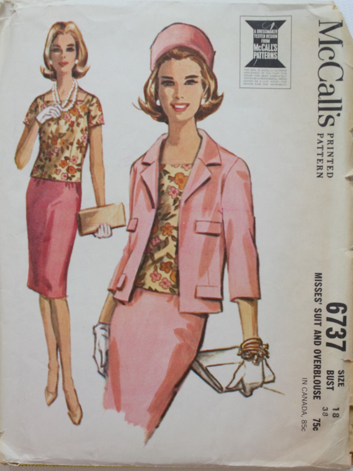 a3899645b5 1960's Vintage McCalls Pattern No. 6737 Sewing Pattern: Mid 60s ...