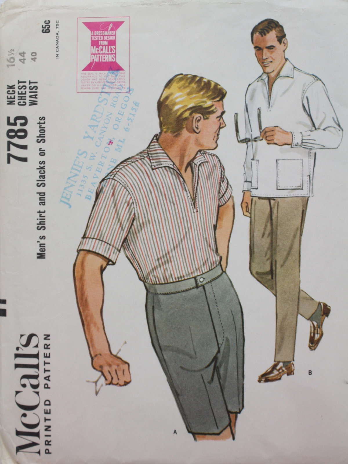 McCalls Pattern No. 7785 60's Vintage Sewing Pattern: 60s -McCalls ...
