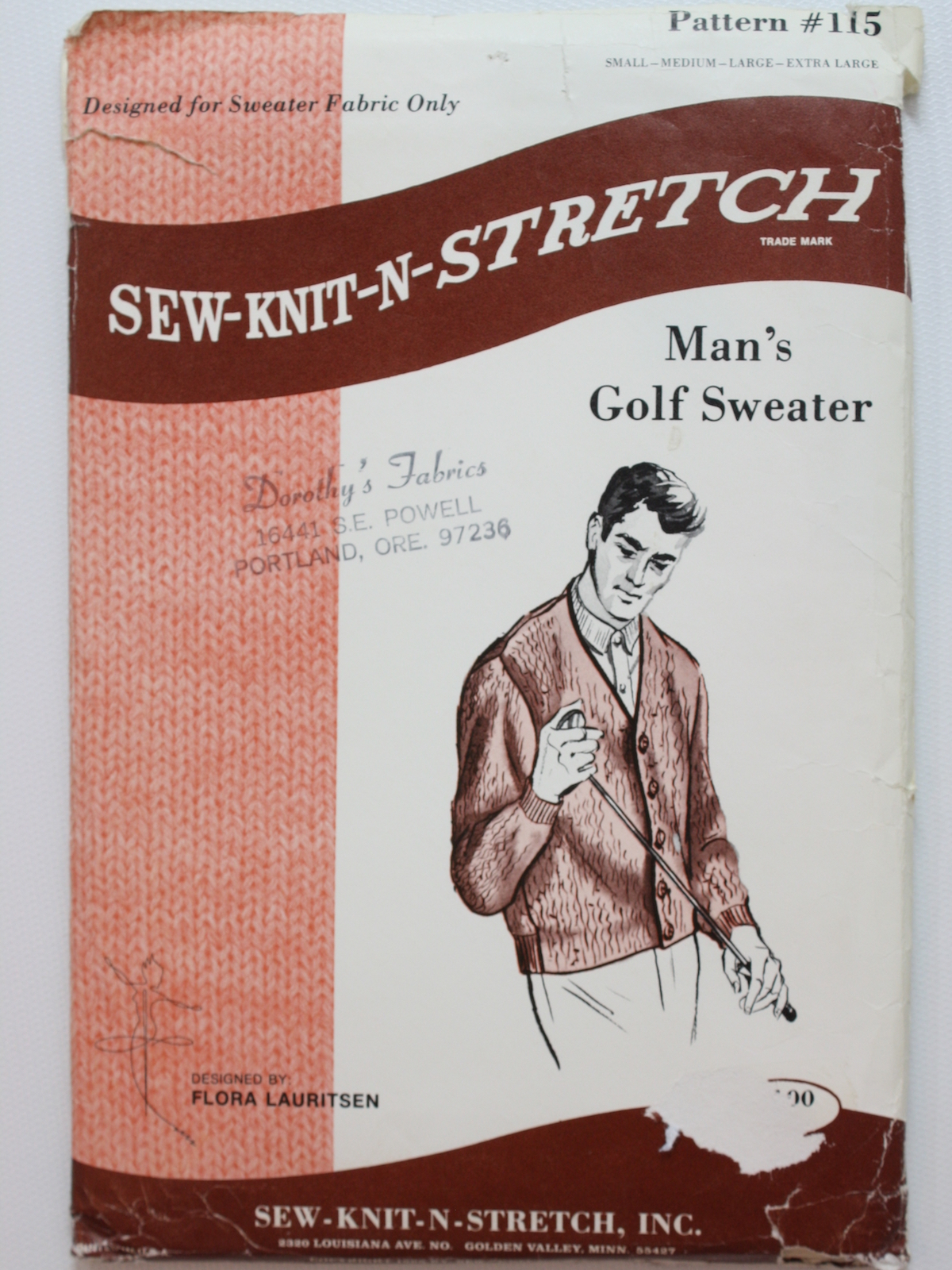 1960's Sew Knit N Stretch Pattern No  115 Mens Pattern