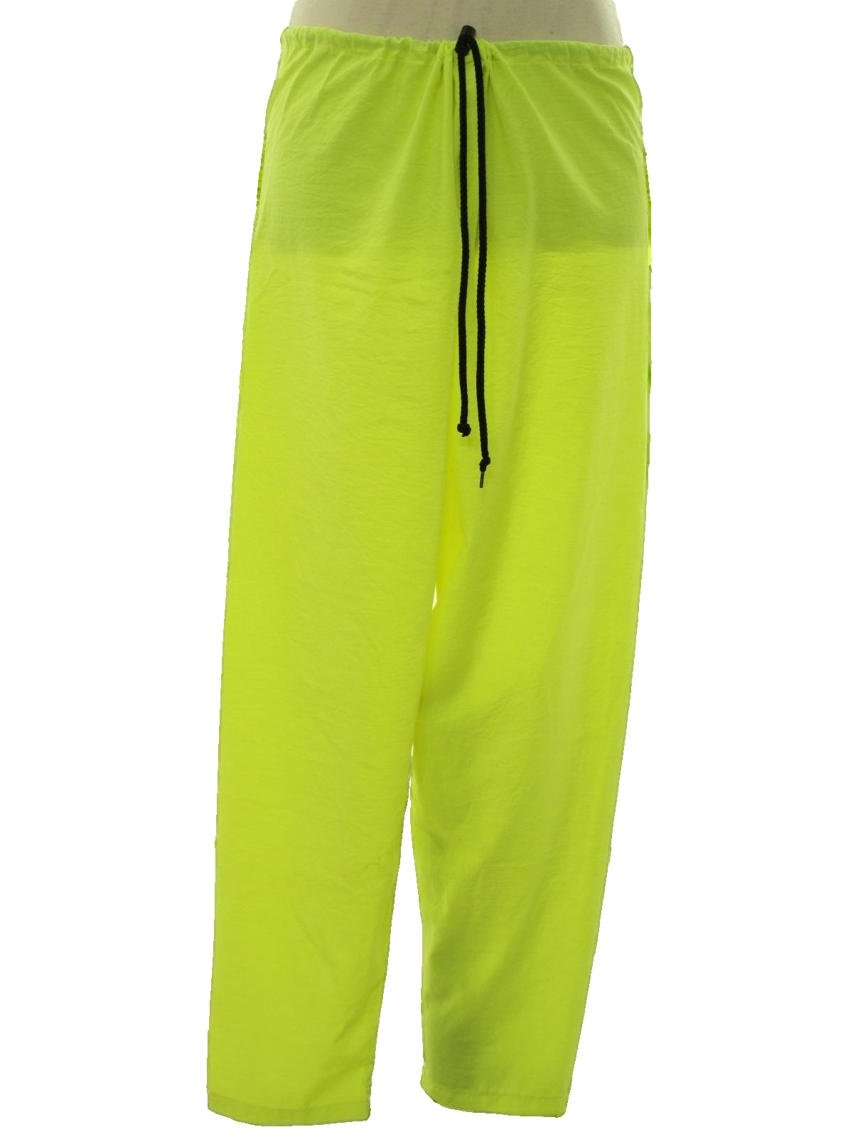 Men's Lime Green Flat Front Dress Pants These men's lime green dress pants are a perfect way to spice up your summer wardrobe with vibrant color. Made from a blend of polyester and rayon, these pants are comfortable and durable.