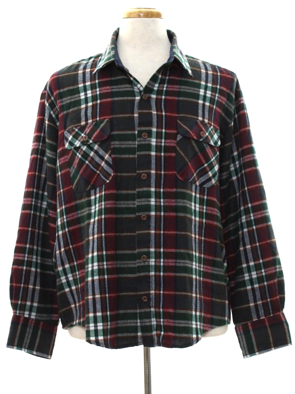 Arrow sportswear eighties vintage shirt 80s arrow for Navy blue and red flannel shirt
