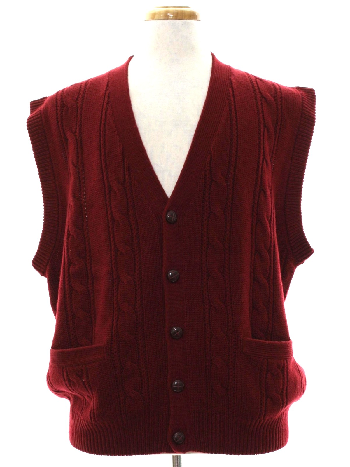 80s Sweater (Towncraft): 80s -Towncraft- Mens wine acrylic knit ...