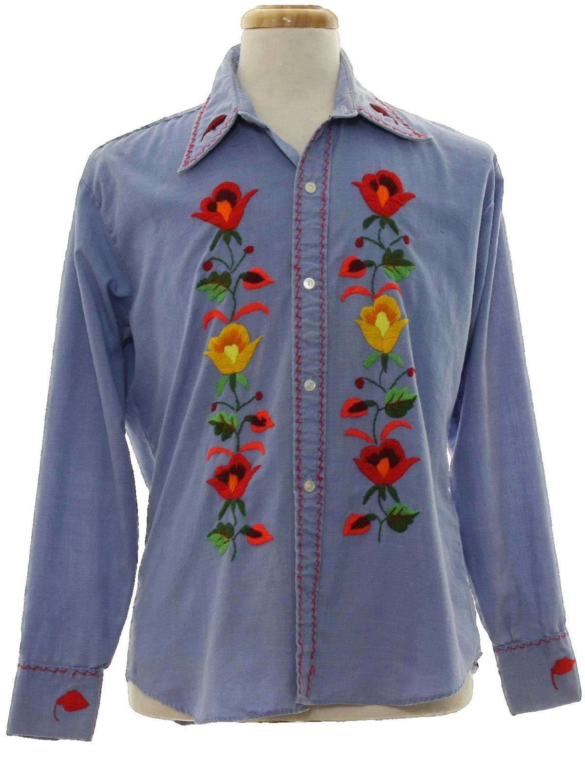 S vintage hippie shirt no label mens dusty light