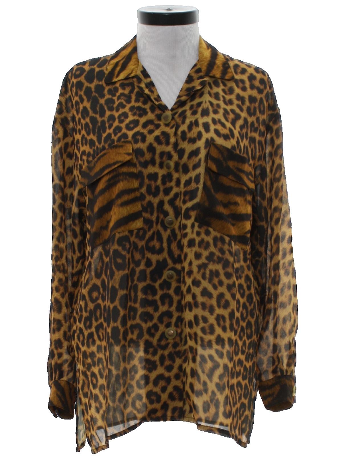 0df1f239216aae Vintage En Route 80 s Shirt  80s -En Route- Womens sheer black and ...