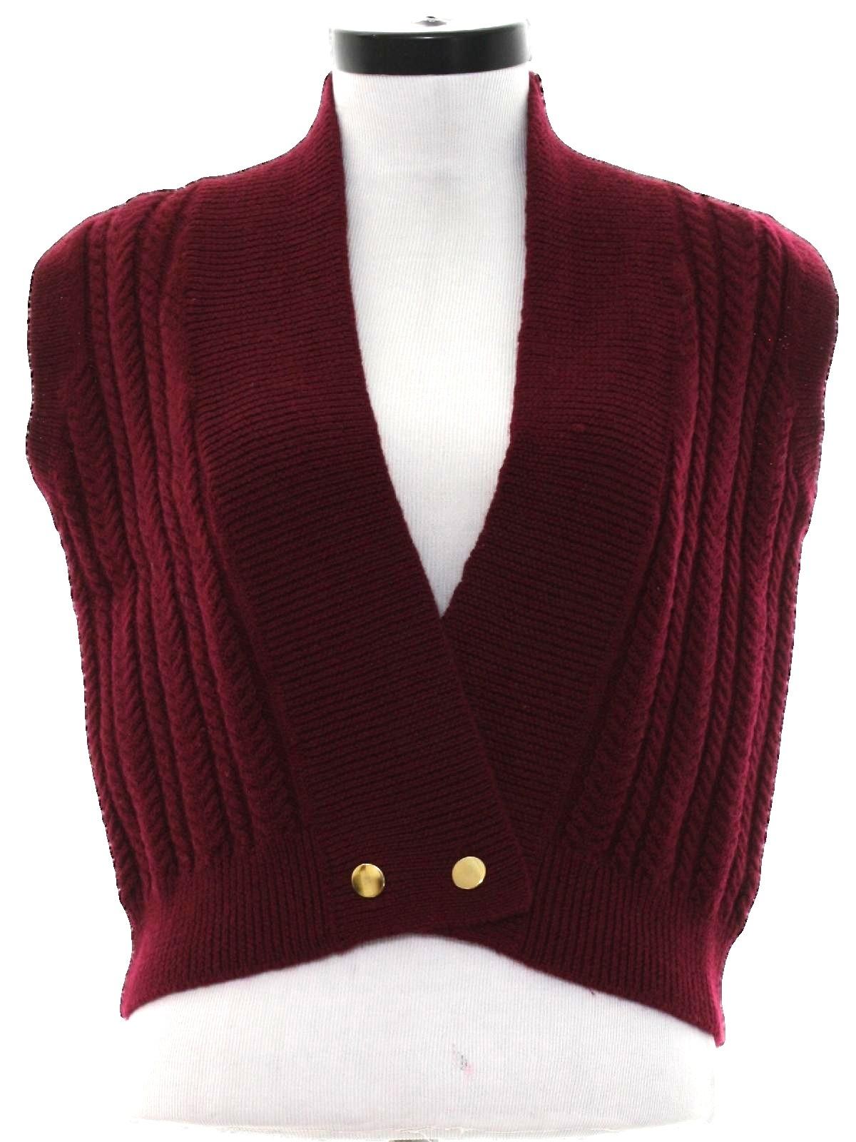 80's fabric label Sweater: Late 80s -fabric label- Womens dark ...