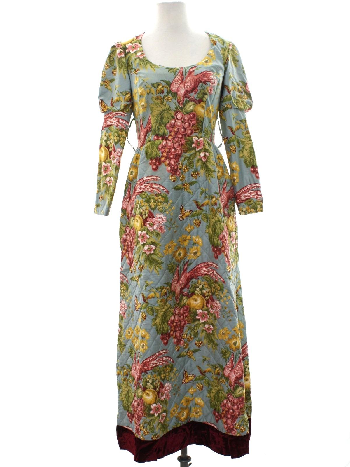 Vintage Home Sewn 80 S Hippie Dress 80s Home Sewn